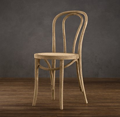 Restoration Hardware - French Café Side Chair (these ones remind me of my childhood kitchen chairs.  I wish those puppies were still around!)