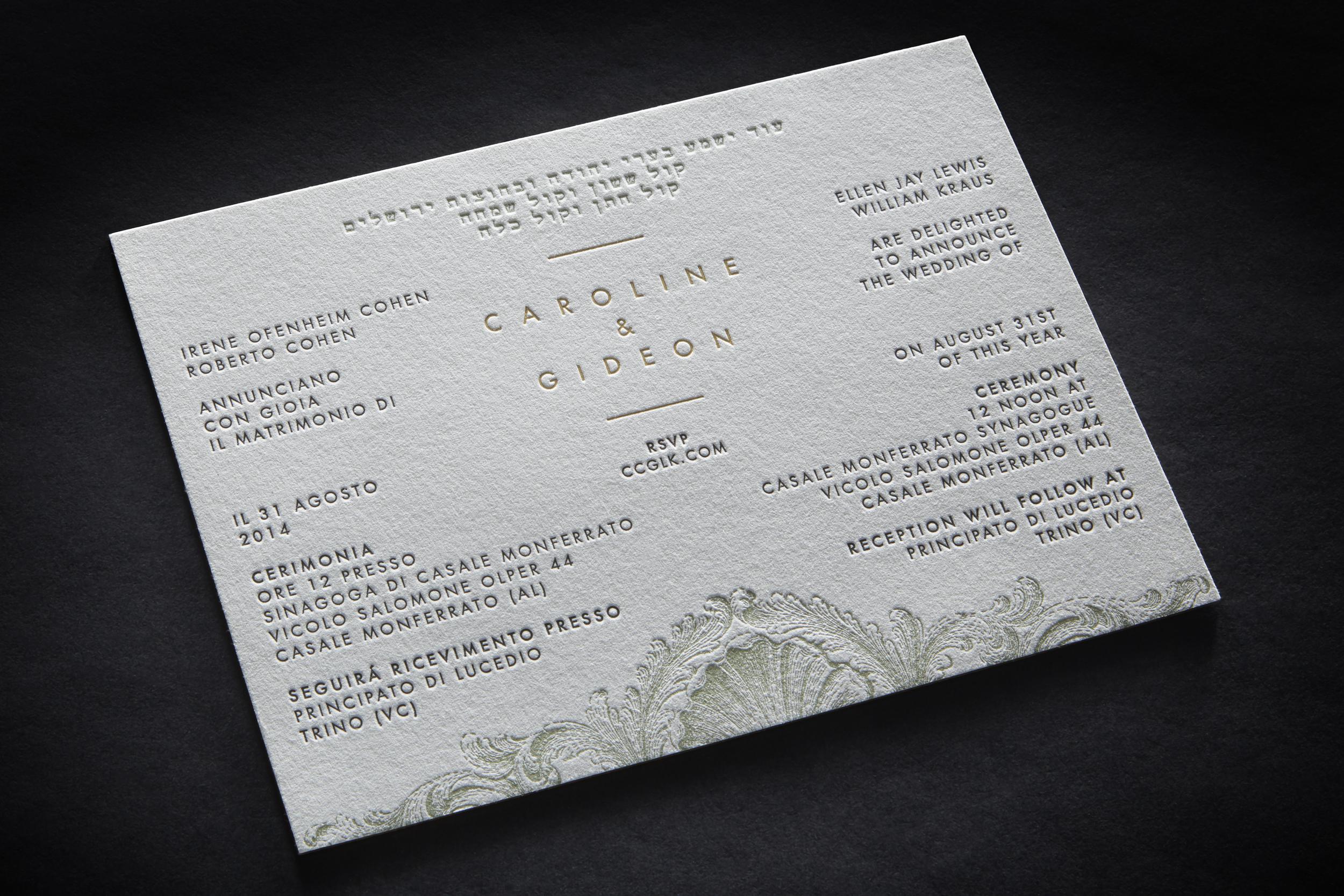 CAROLINE & GIDEON