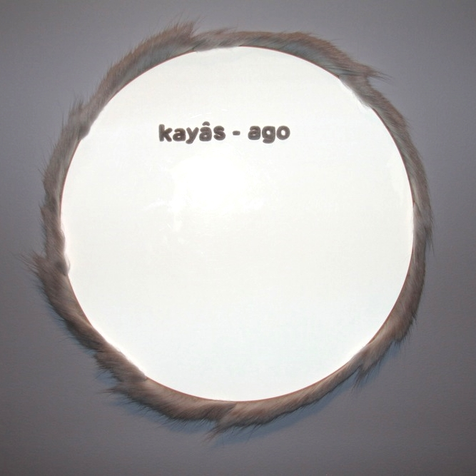 "kayas-âgo: A. Malbeuf, 24"" diameter. Photo: Kelly Henson."