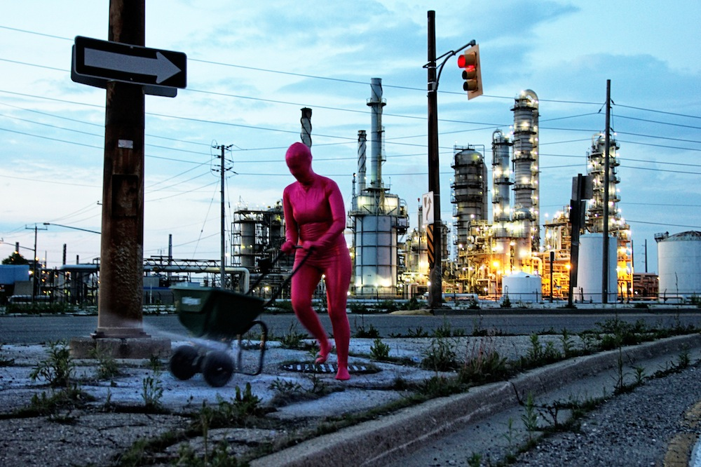 Chemical Valley,2013, as part of the exhibitionGashka'oode: Tangled,London, ON.Photo: Andie Shabbar