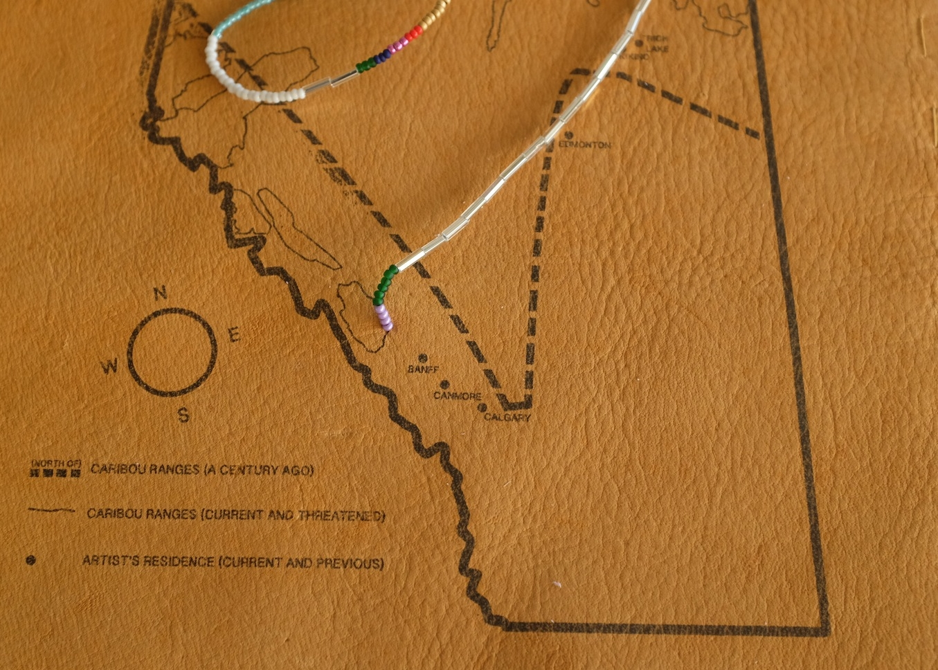 The Caribou's Range, detail