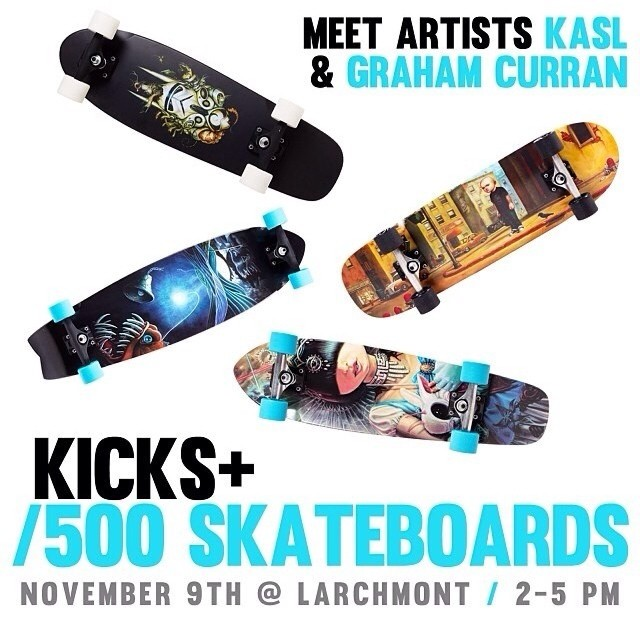 On Saturday, November 9th, 2013, Graham will be signing his Artist series skateboard deck. He will be attending the event along side 500 skateboard artist, Kasl.     141 N. Larchmont  Los Angeles, CA  2 - 5 pm
