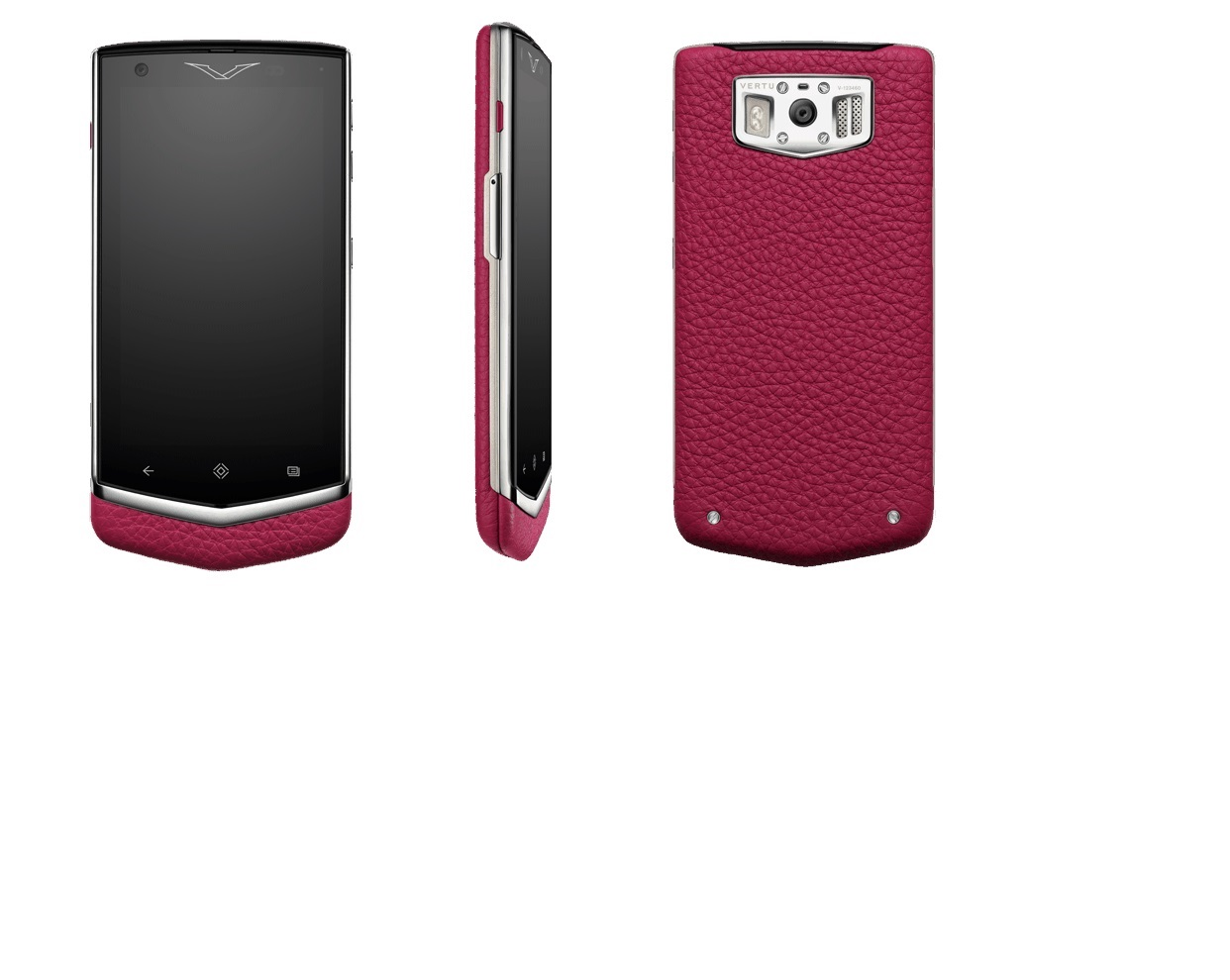 Vertu 'Constellation' in Raspberry. Available in 5 colours. $7,950