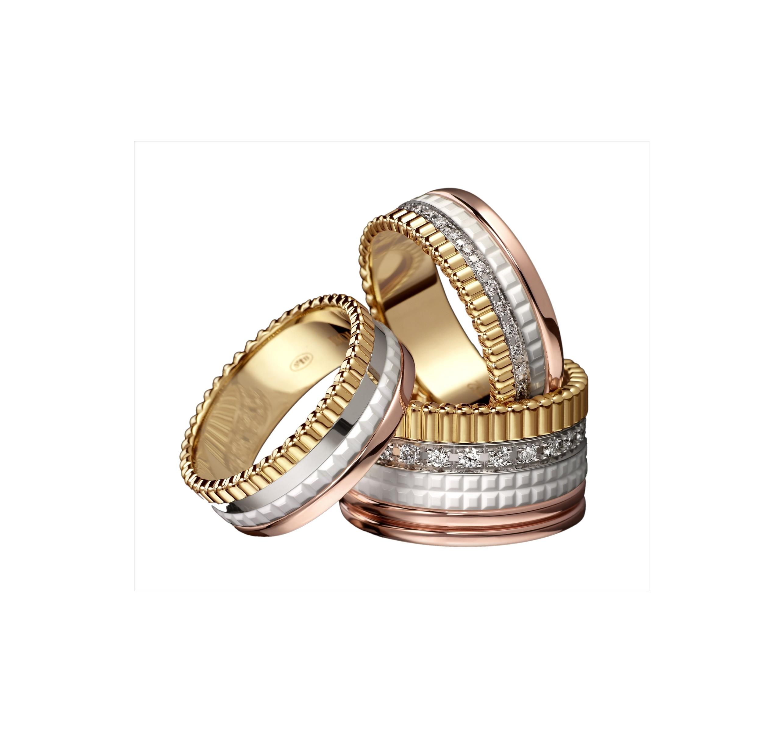 Boucheron 'Quatre White Edition' rings. From $3,440