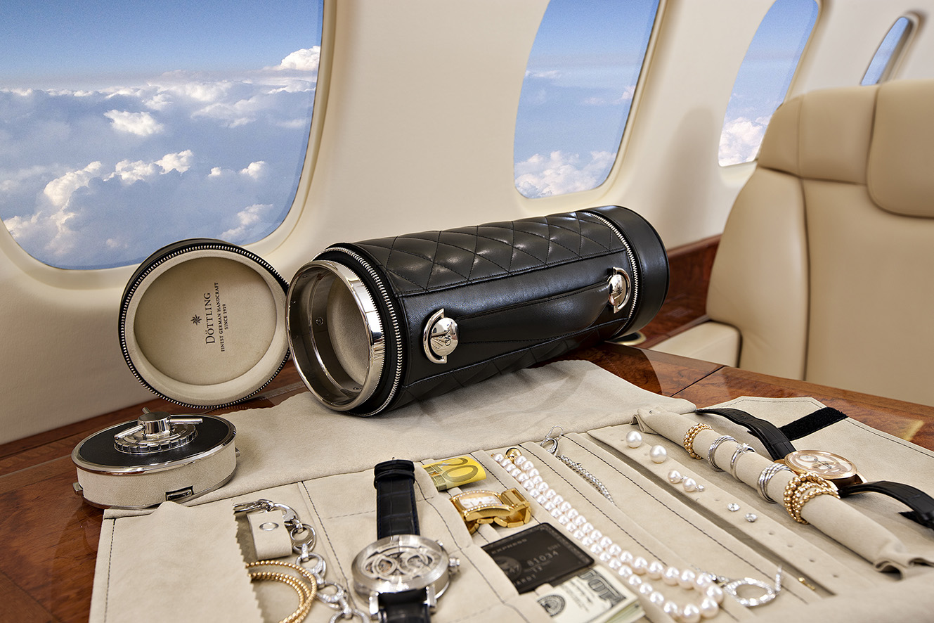 Döttling 'The Guardian' travel safe. Patented kevlar-based material and in-built GPS. Safely carries watches, jewellery, documents, and currency. Made to Order with Bespoke finishing. From $17,200