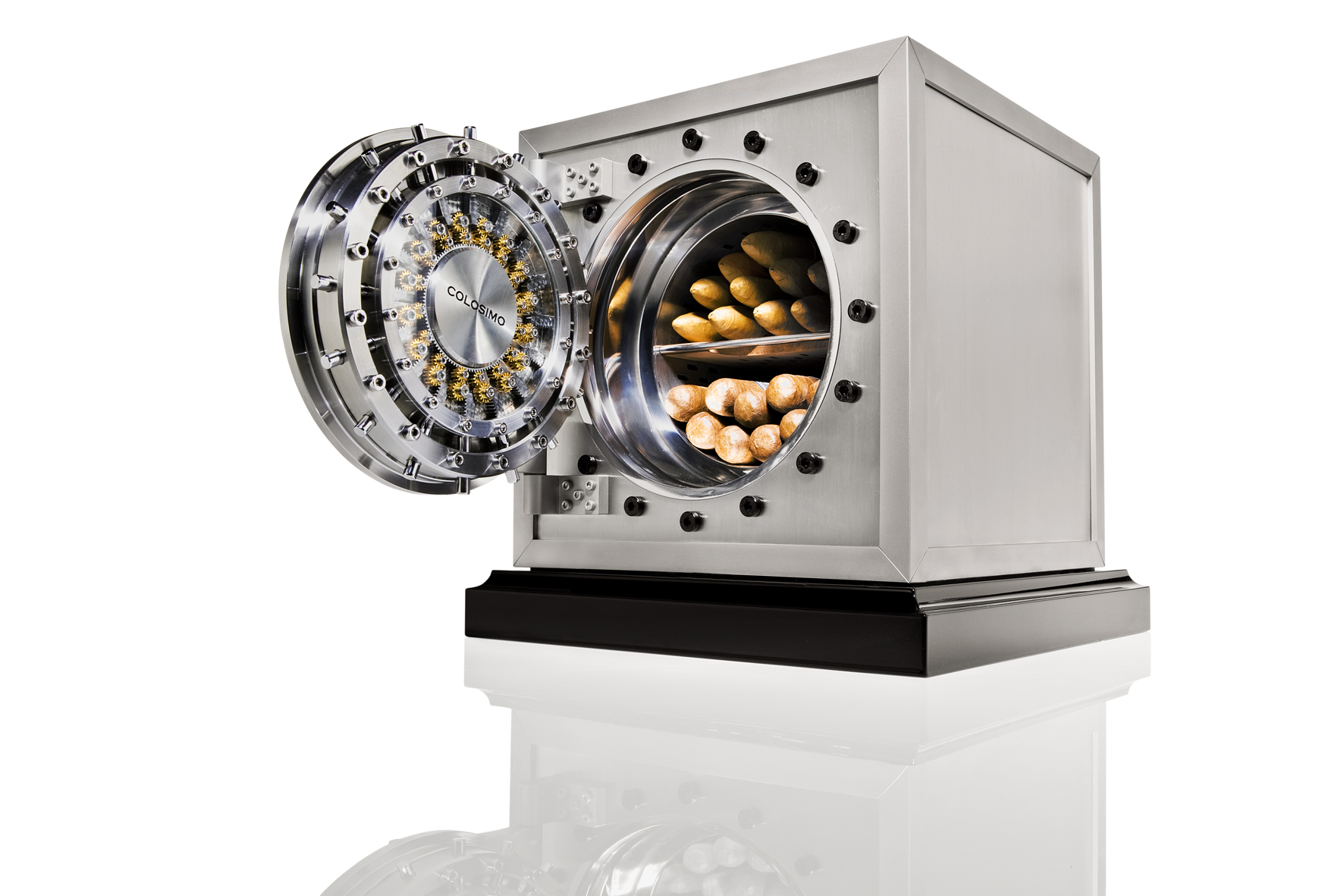 Döttling 'Colosimo' mini vault. Fitted as a cigar humidor or watch winder. Available in a range of finishes. From $15,500