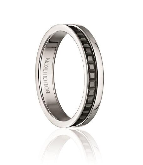 Boucheron 'Quatre Black Edition' ring in white gold and Boucheron Black gold. $2,070