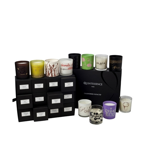 Quintessence-Paris Annual Olfactory Calendar with 12 individually designed candles. $1,275