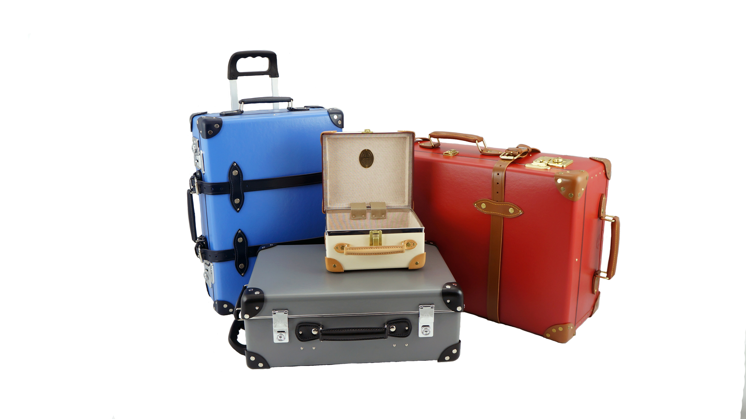 Globe-Trotter luggage collections. A range of colours and sizes. The only luxury luggage designed to be checked-in. From $550