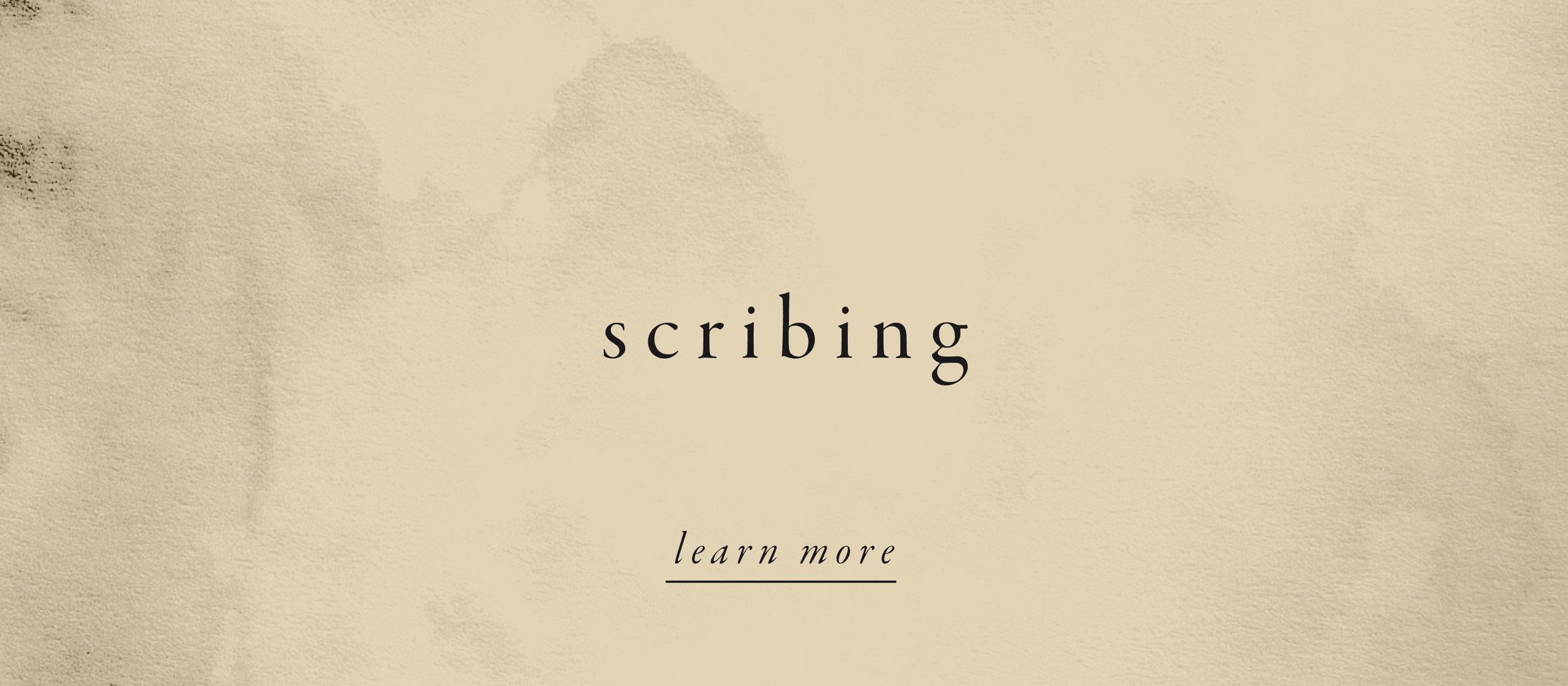 scribing.
