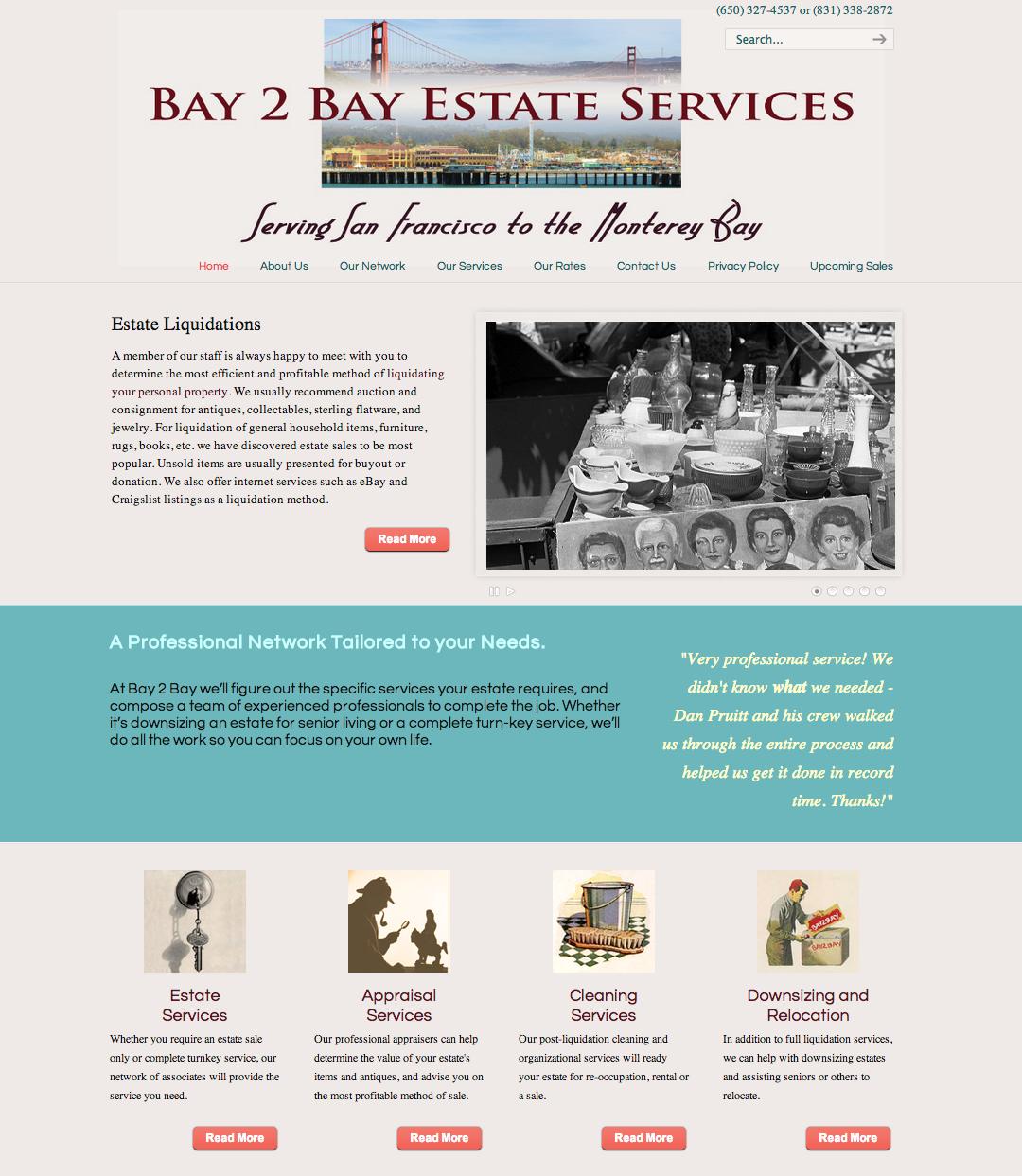 Website Design, www.bay2bayestateservices.com