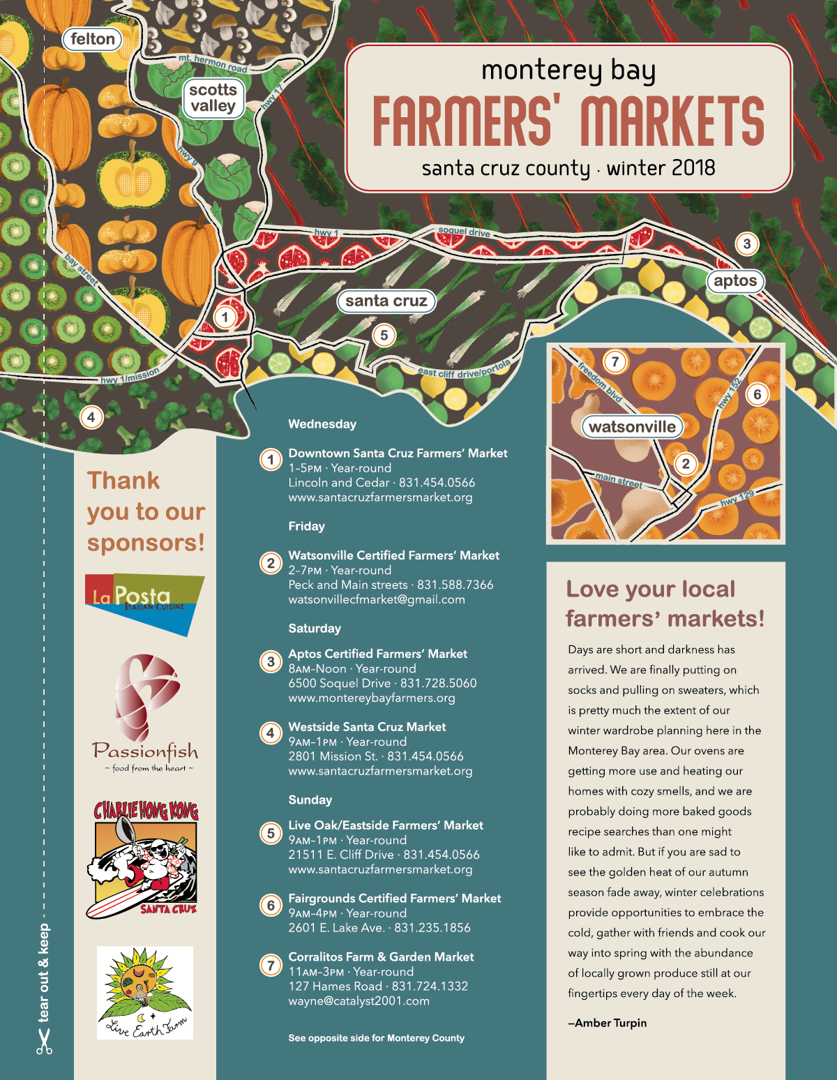 Monterey Bay Farmers Markets (Winter)