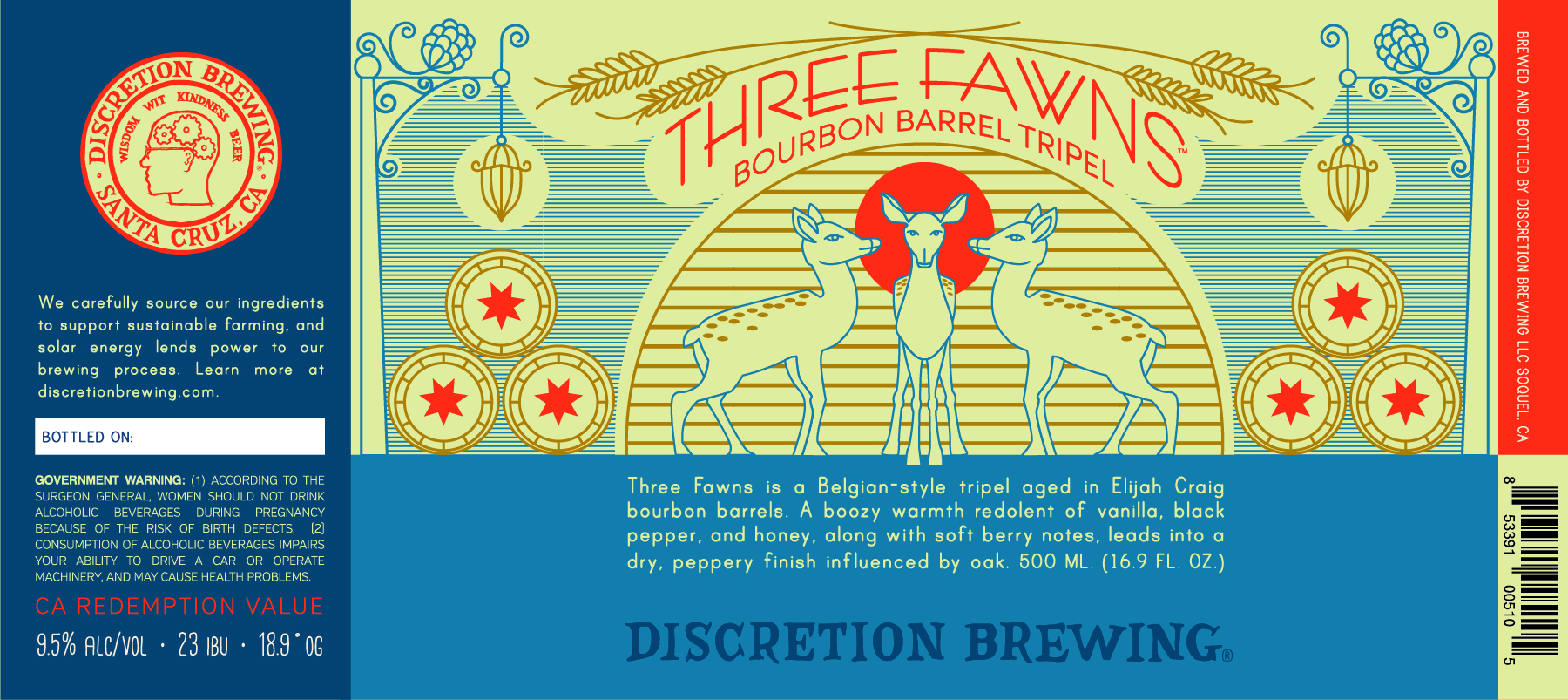 Three Fawns Bourbon Barrel Tripel