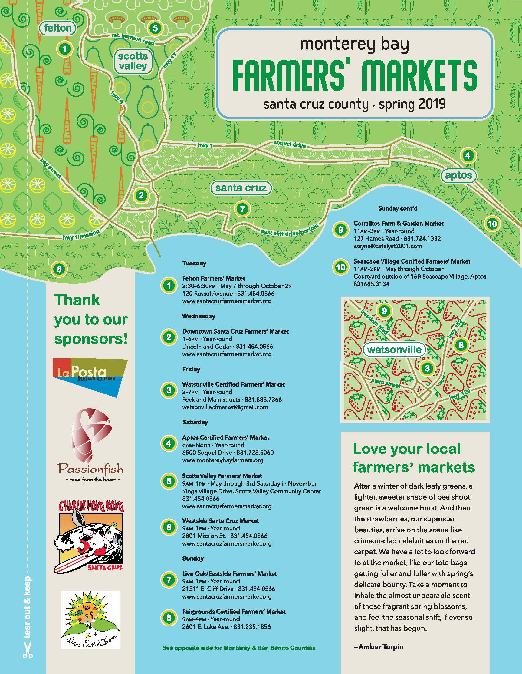Monterey Bay Farmers' Markets (Spring)