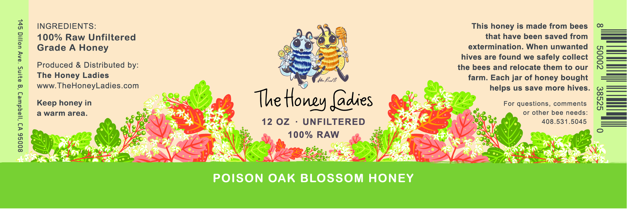 Poison Oak Blossom Honey