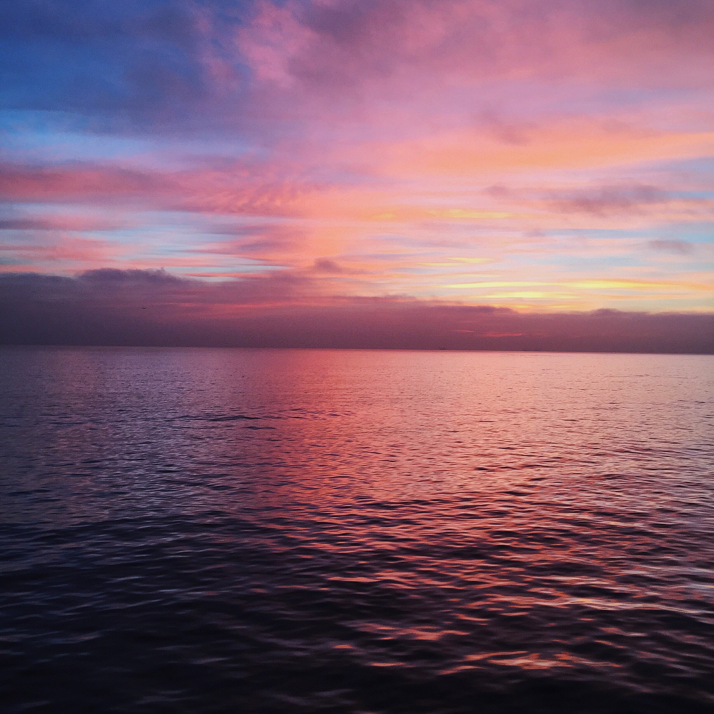 Sunrise from the Catalina Express