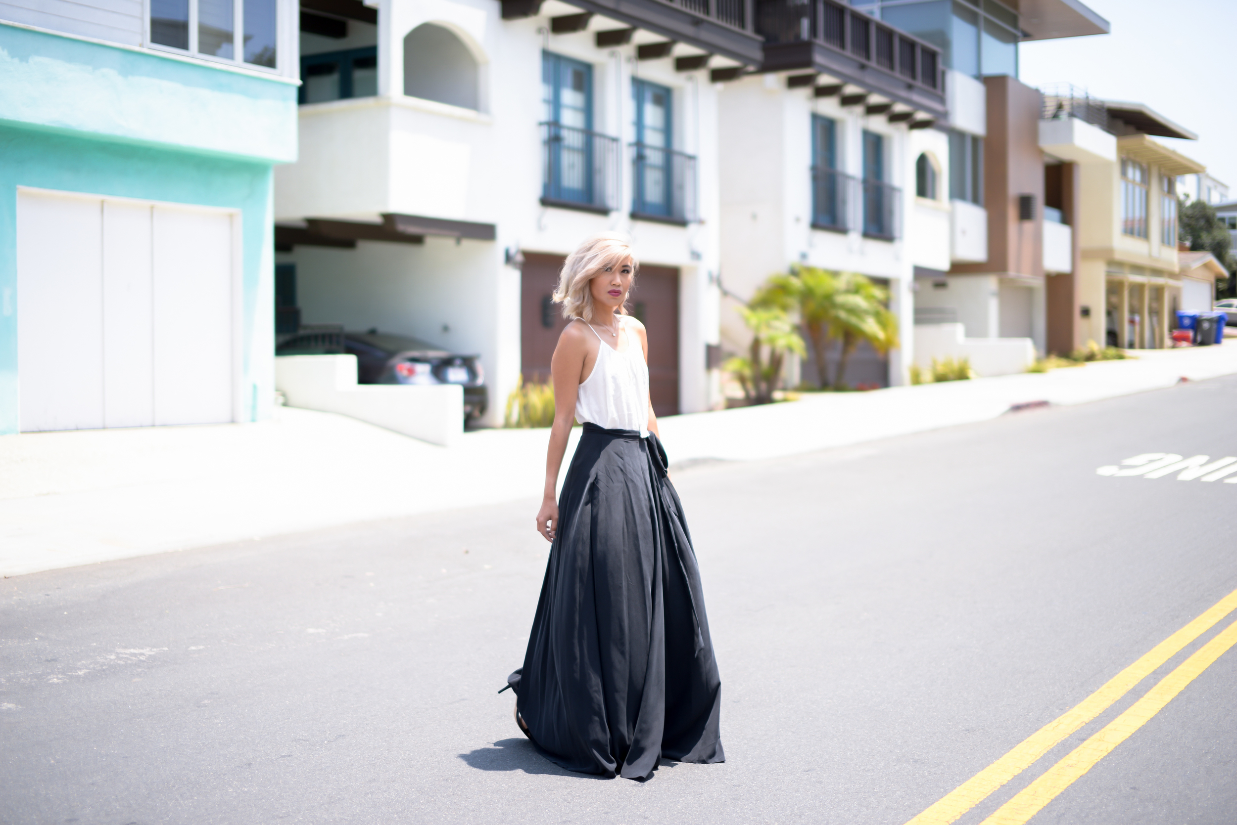 L'Agence Black Wrap Maxi Skirt Cotton On Tank Top Forever 21 Heels By Lisa Linh