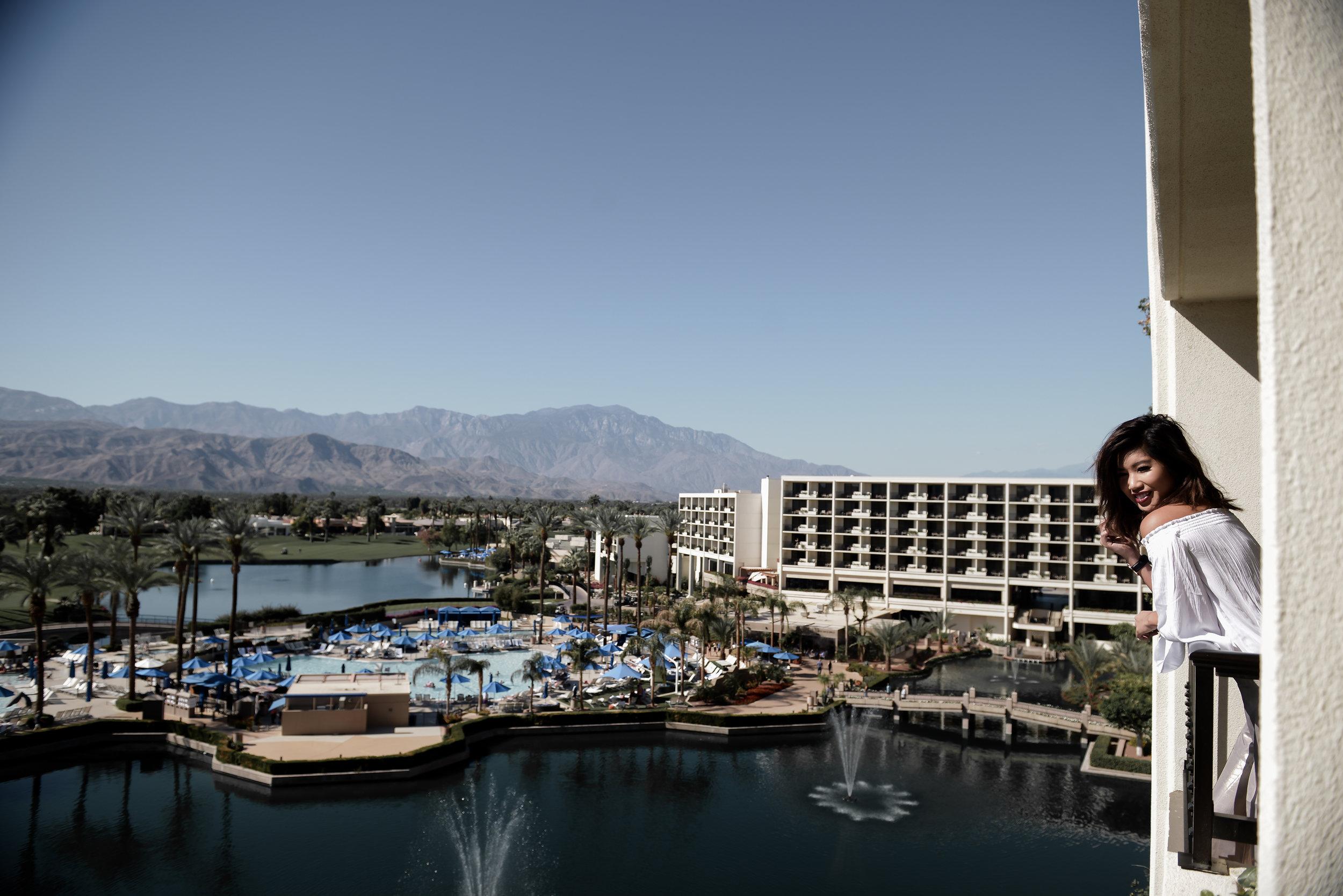 Marriott Desert Springs Balcony View by Lisa Linh