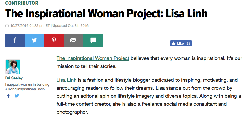 Featured on The Huffington Post