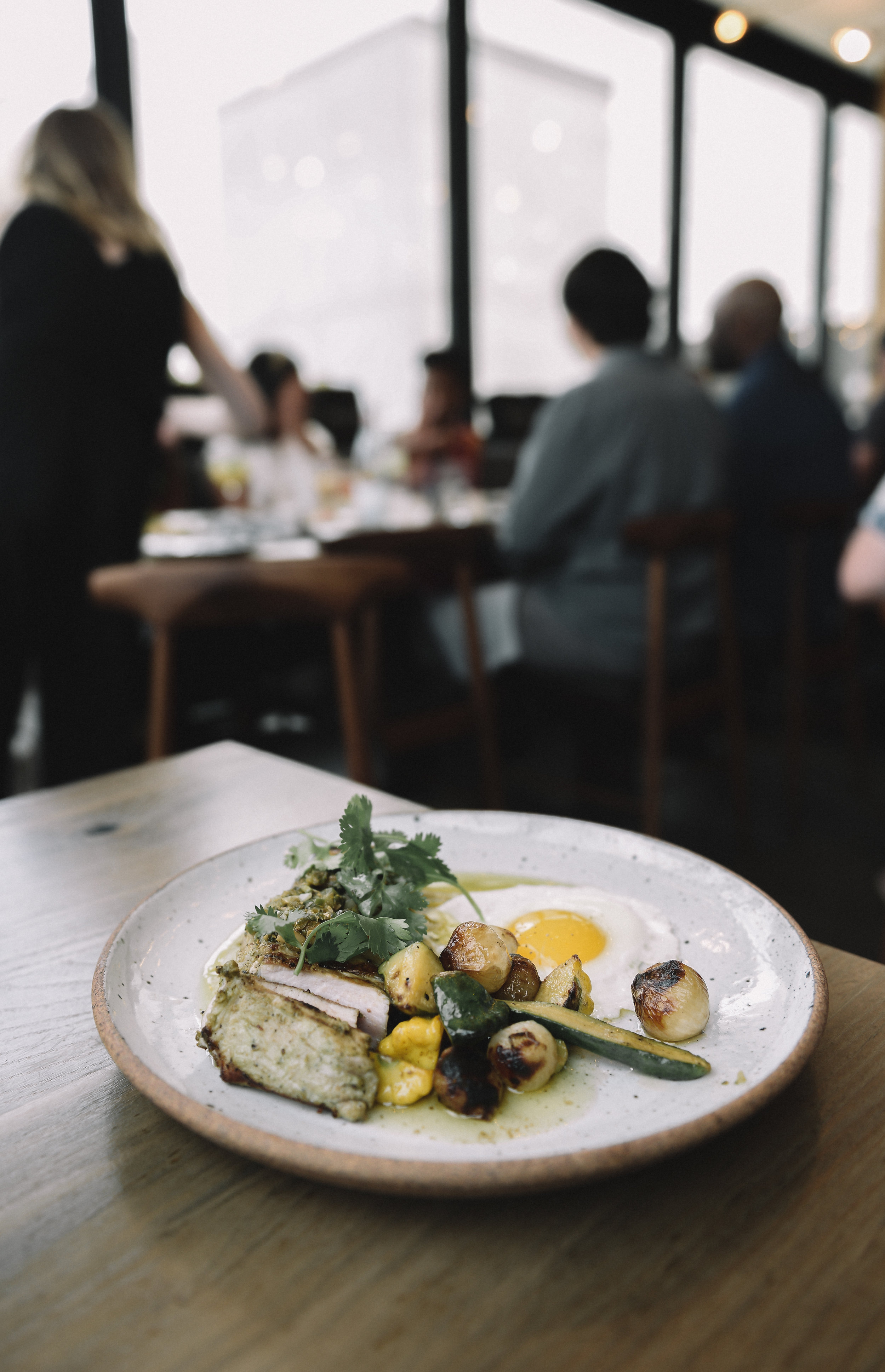 Pork Loin • Poblano • Summer Squash • Pipian • Fried Egg