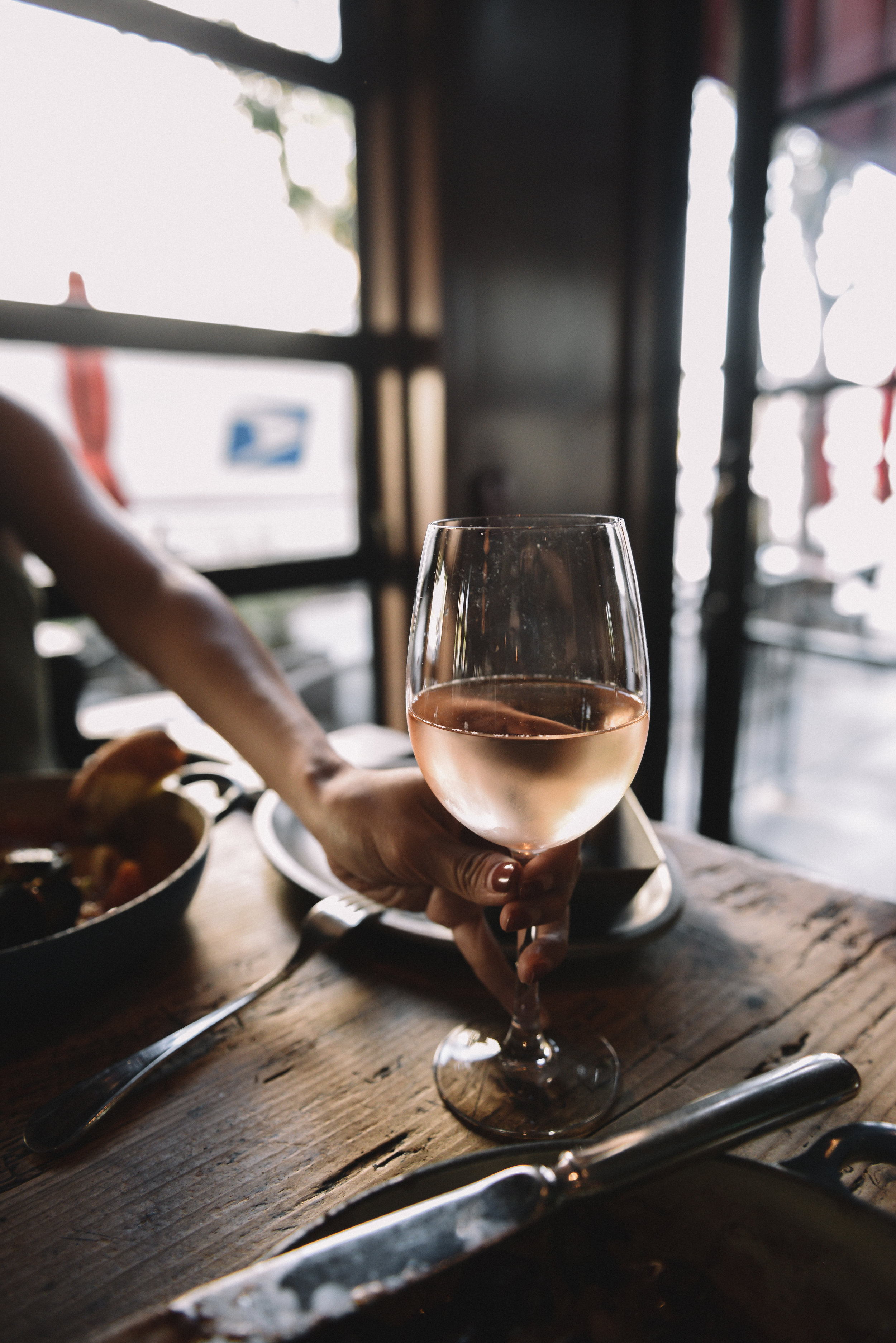 Wine Pairings - We paired the Coq Au Vin with a glass of rosé that the bartender selected himself.Highly suggested to have them pair your entree for you.