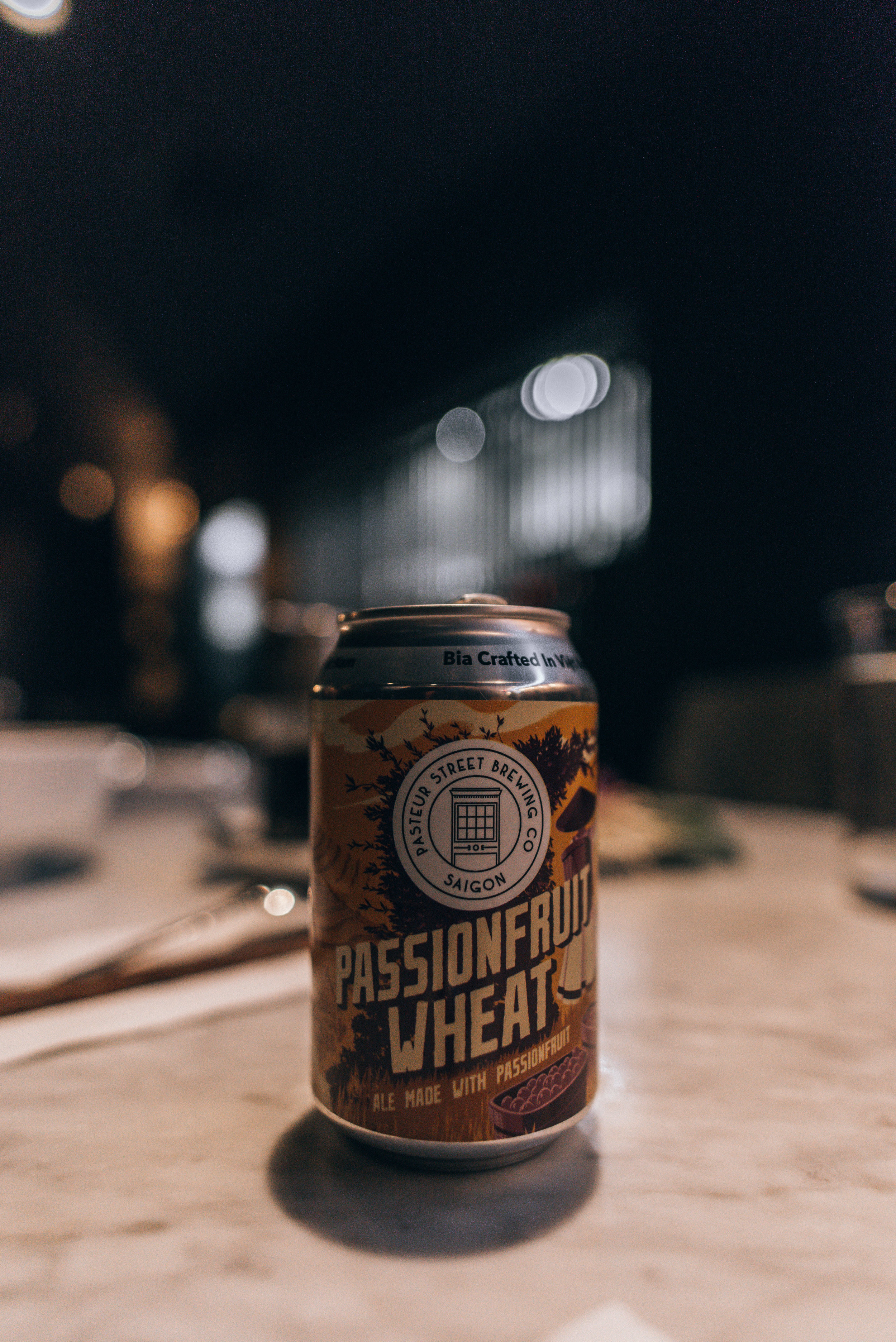 Passionfruit Wheat Beer from Pasteur Street Brewing Co in Saigon - We tried this place while in Vietnam last year!