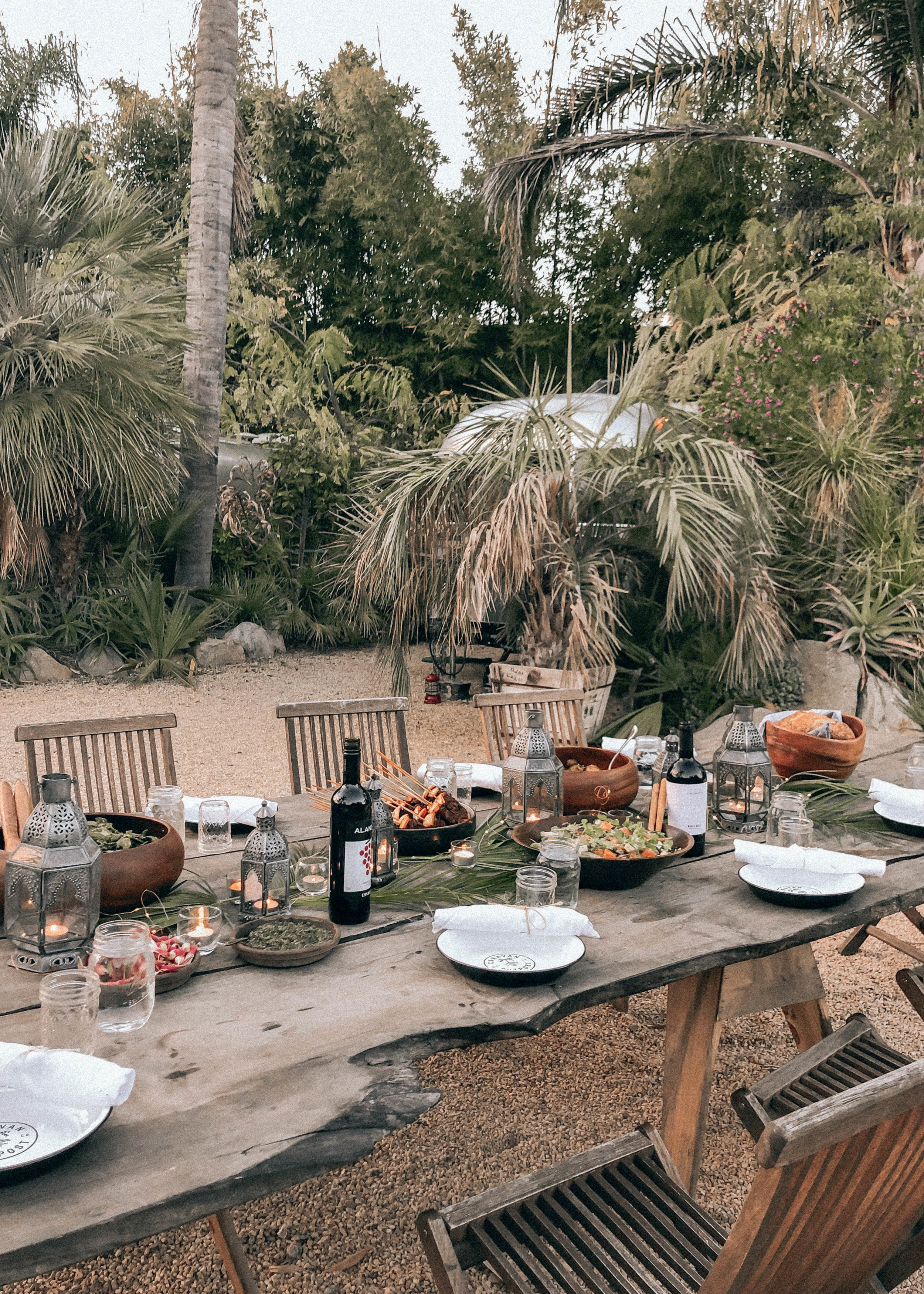 Private catered dinner at Caravan Outpost (courtesy of Z Supply)