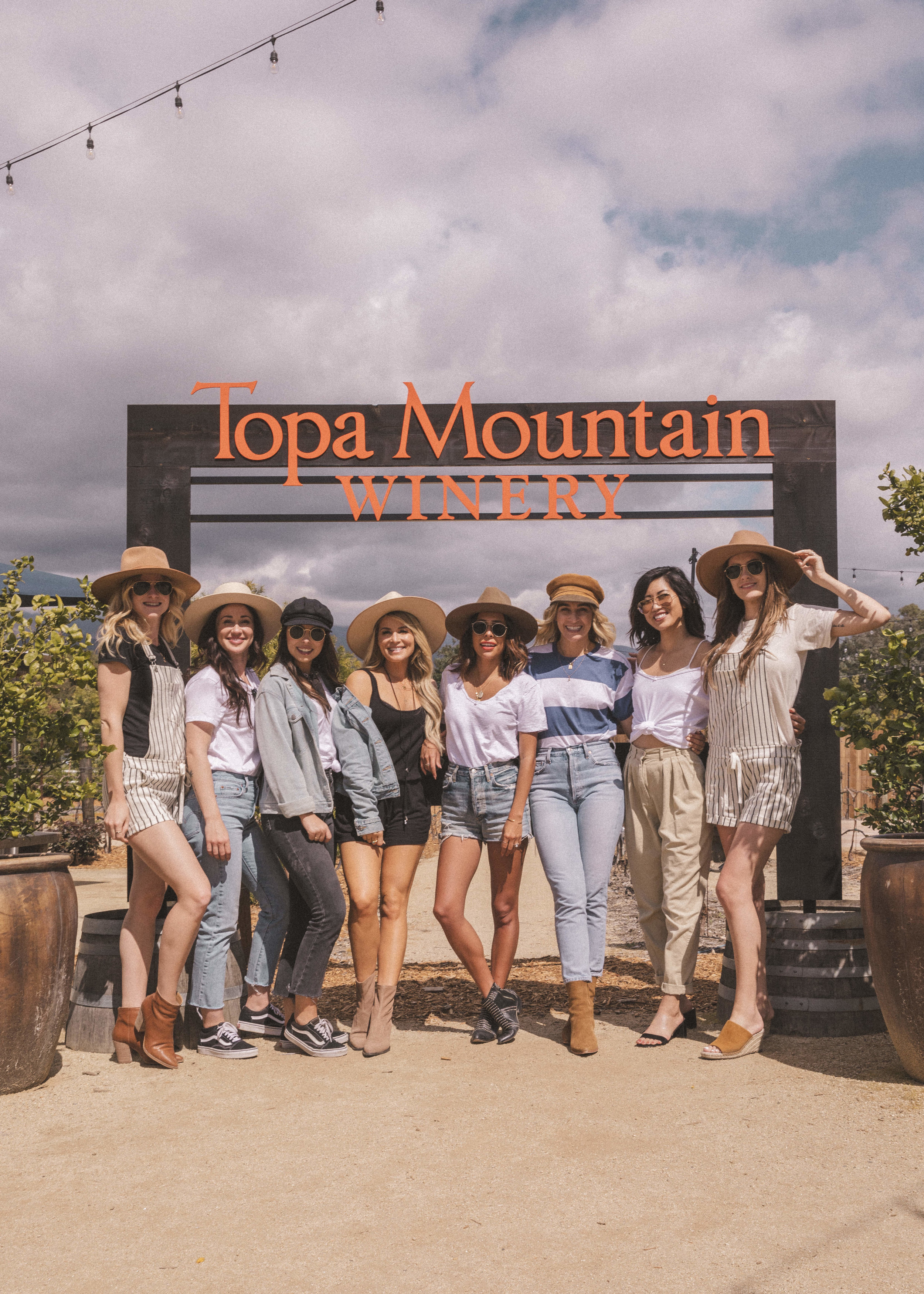 Wine tasting at Topa Mountain Winery