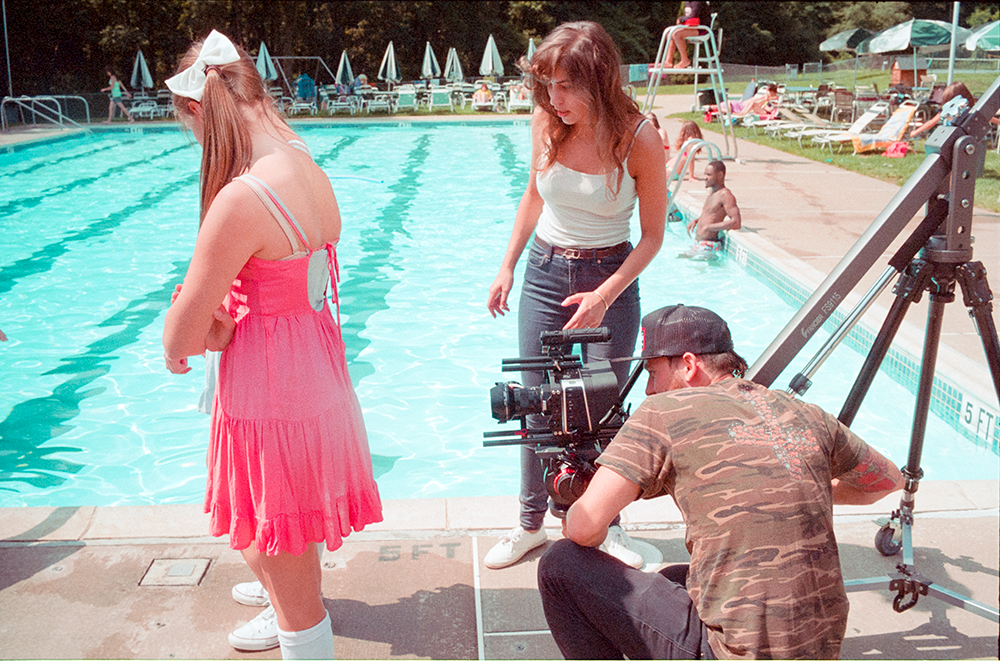 Director Chelsea Lupkin and Director of Photography Michael Russo work with actresses, Ally Thomas and Kailee Shollenberger.  Photo by Jimmy O'Donnell.