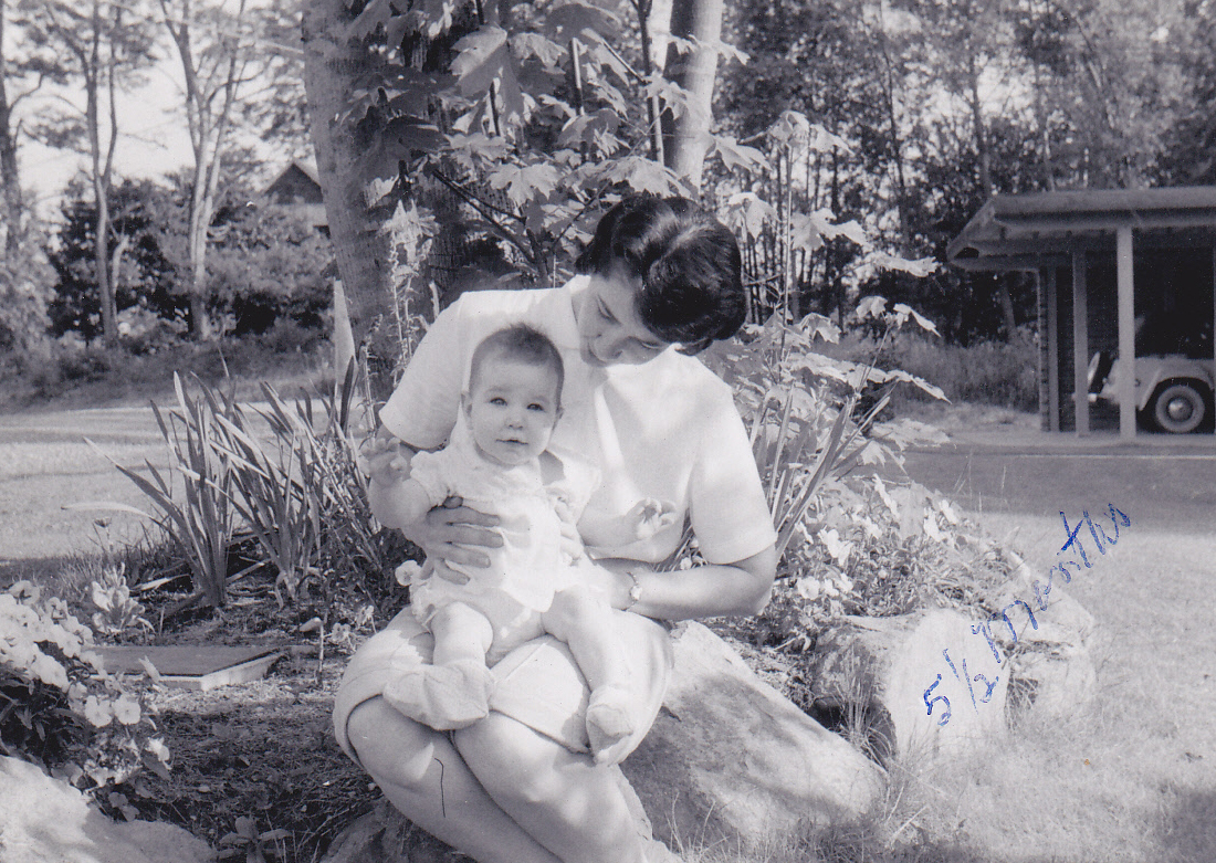 My mother and me at 5.5 months of age, 1957.