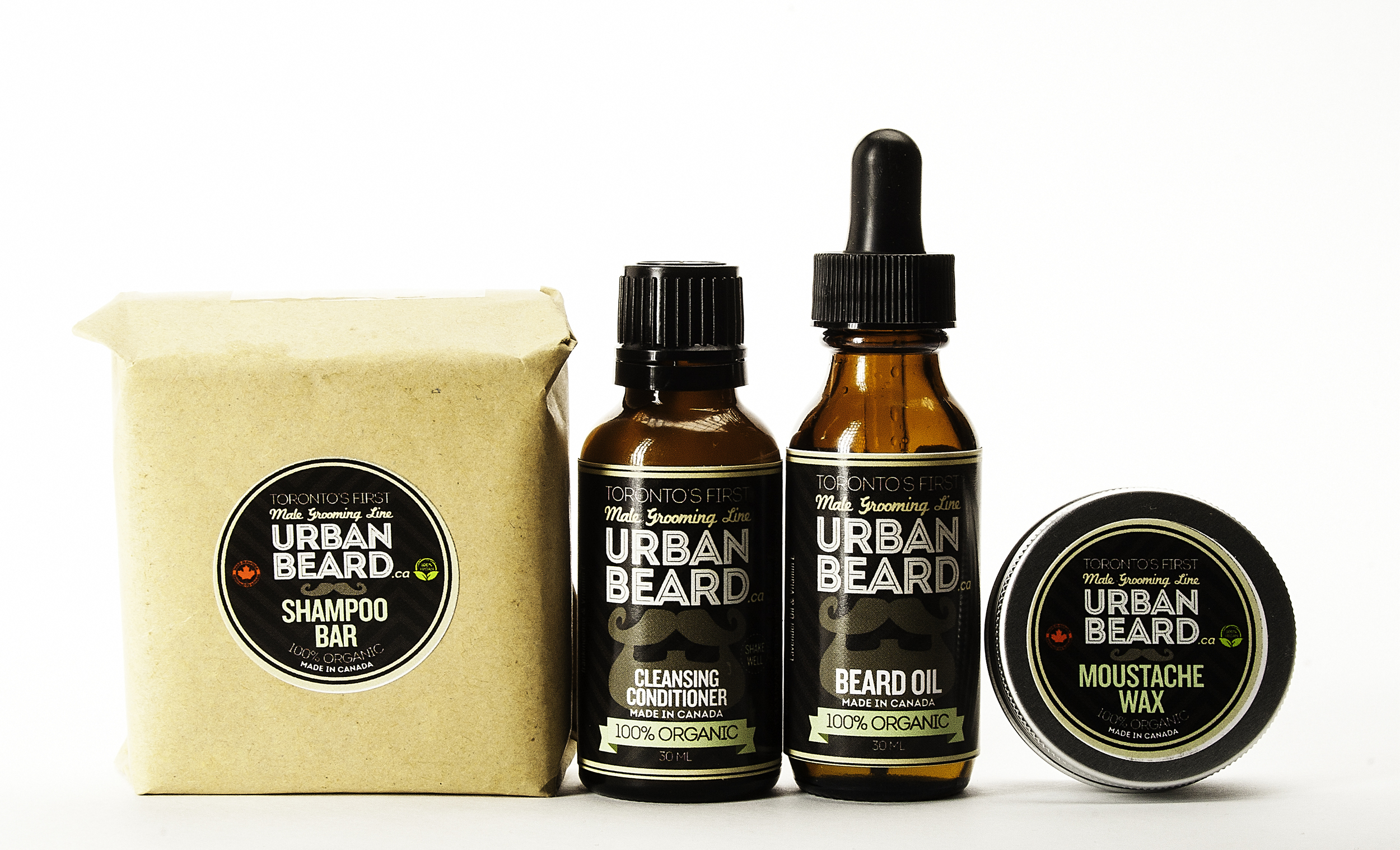 Shampoo Bar, Conditioner, Beard Oil, Moustache Wax