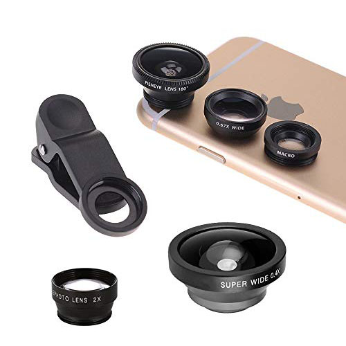 For the photographer who doesn't always have an SLR around their neck. These clip-on smartphone lenses are here to help get the perfect shot. Fisheye, wide, zoom, micro, macro – there are lots of options on Amazon.