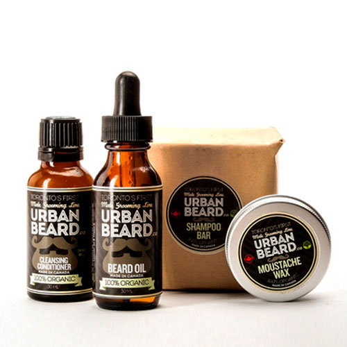 Help him keep his beard tidy and well-groomed with the Man Pack. It's a perfect starter kit and you can get  free shipping with code 8Y9784.  Includes beard oil, moustache wax, shampoo bar and cleansing conditioner.