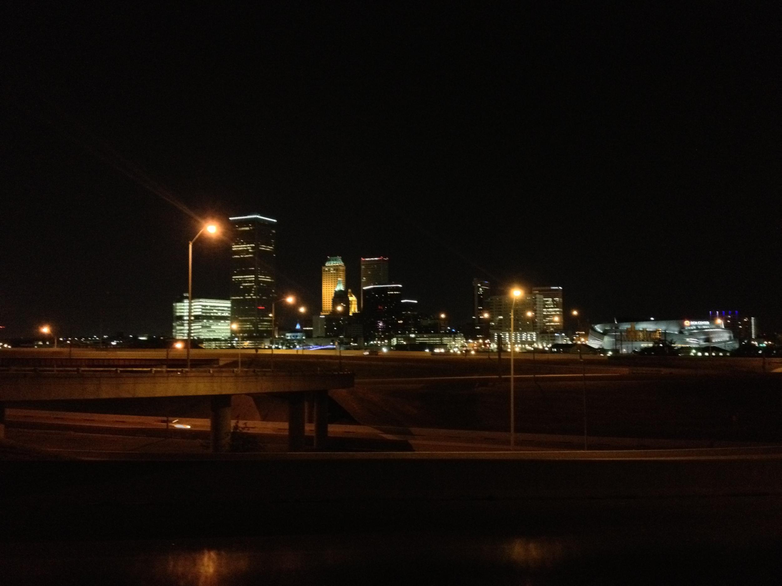 Tulsa, Oklahoma at Night