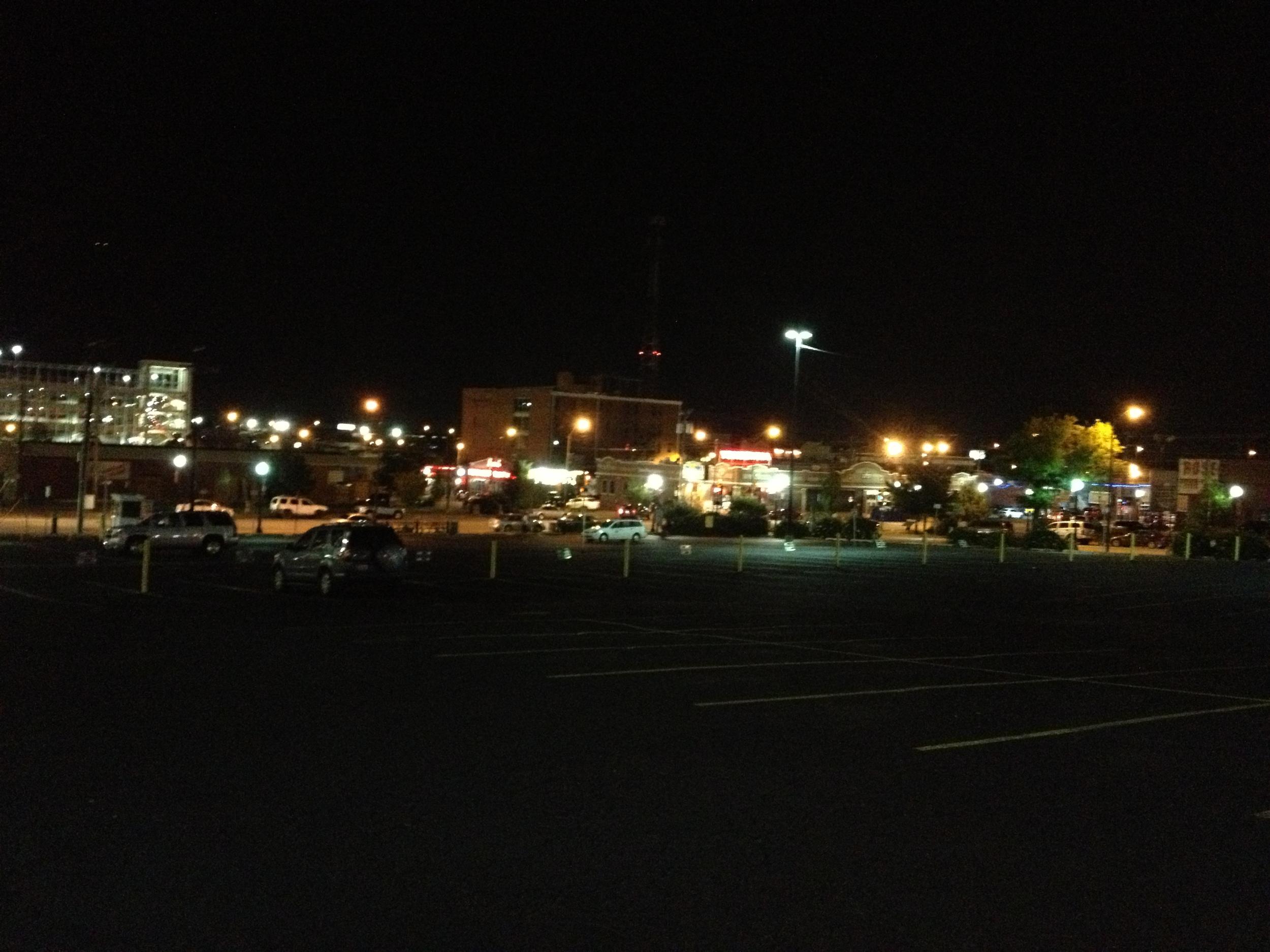 Tulsa night scene
