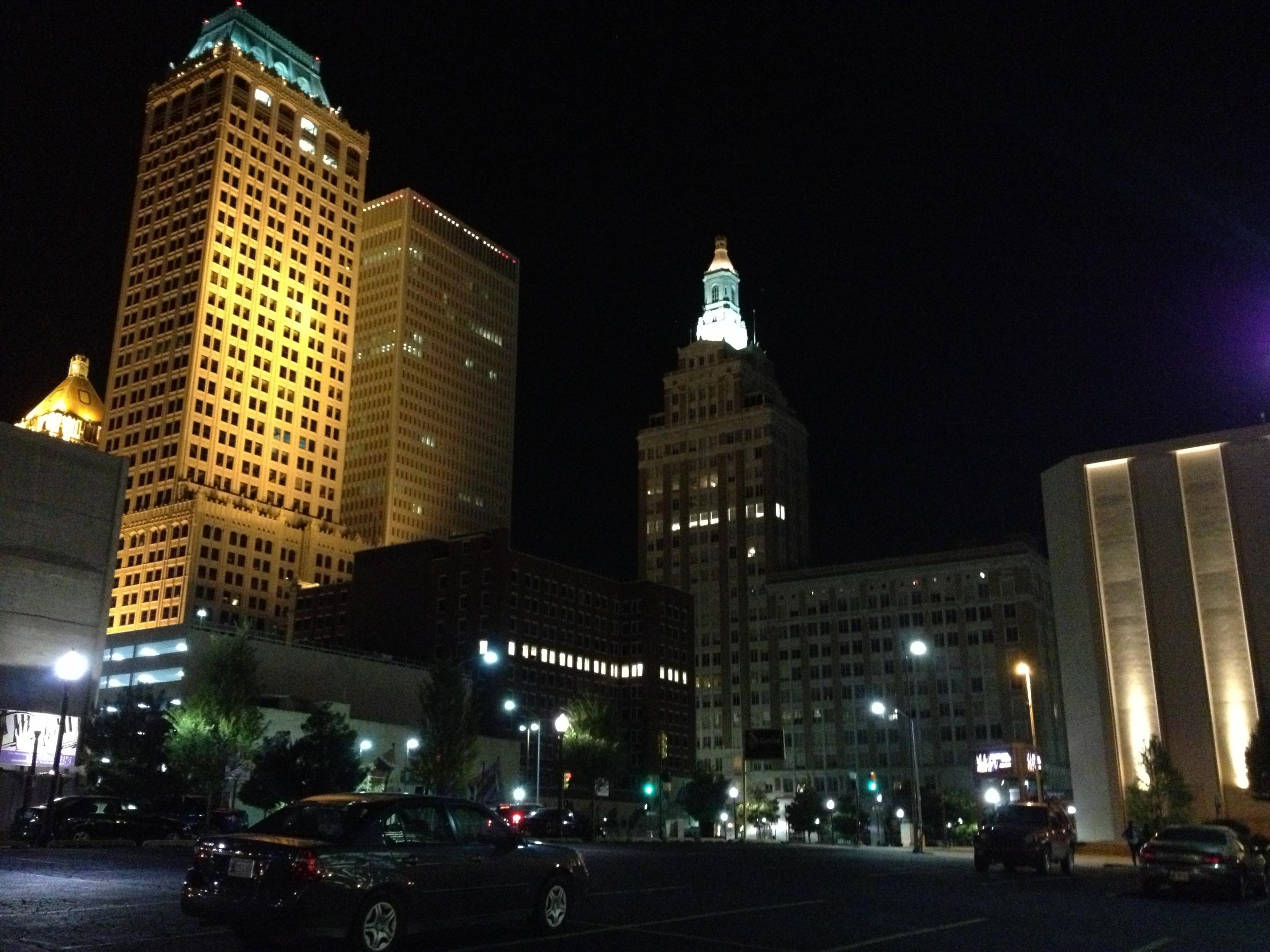 Street view of Tulsa Bulidings