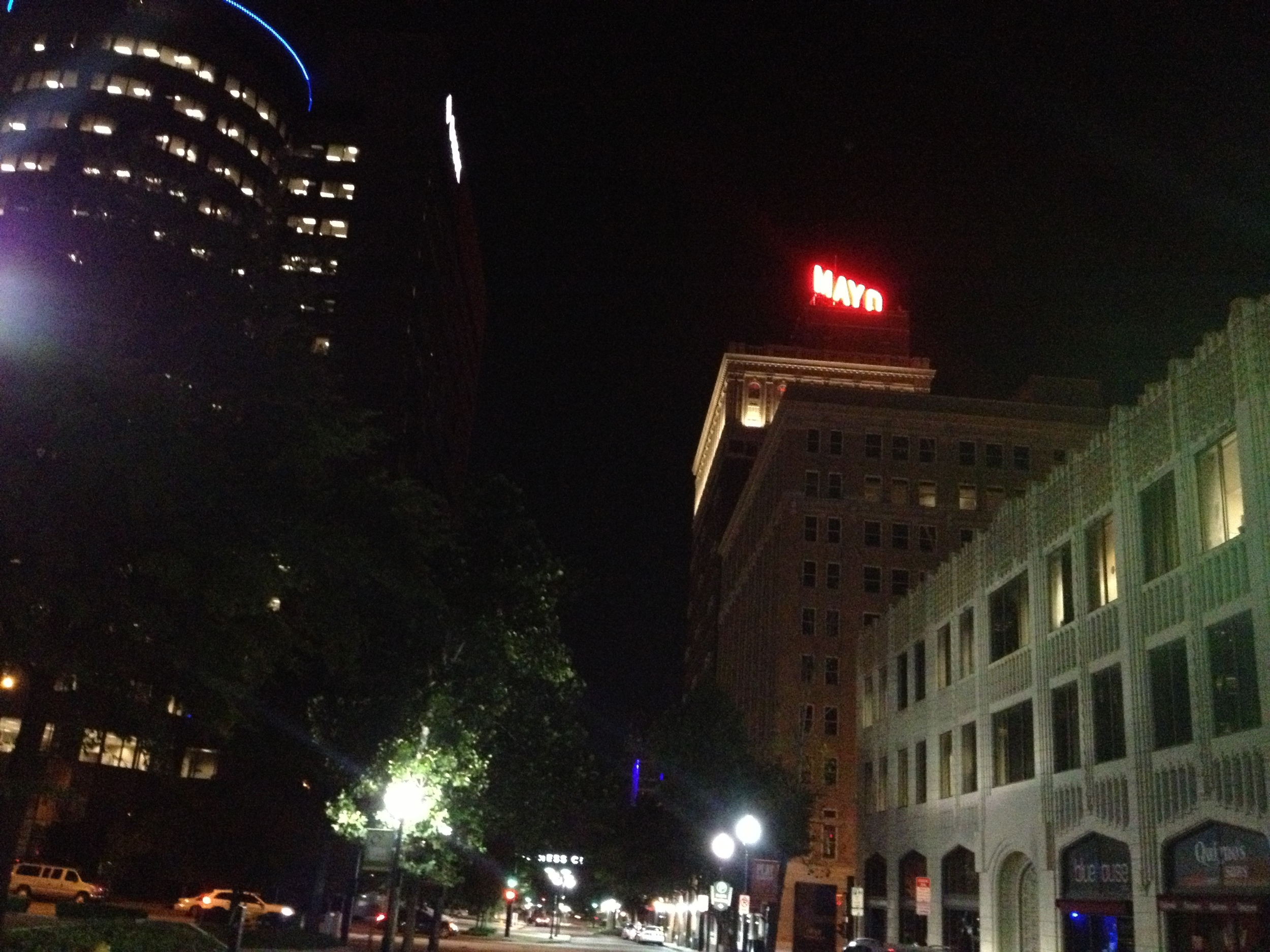 The Mayo Building sign
