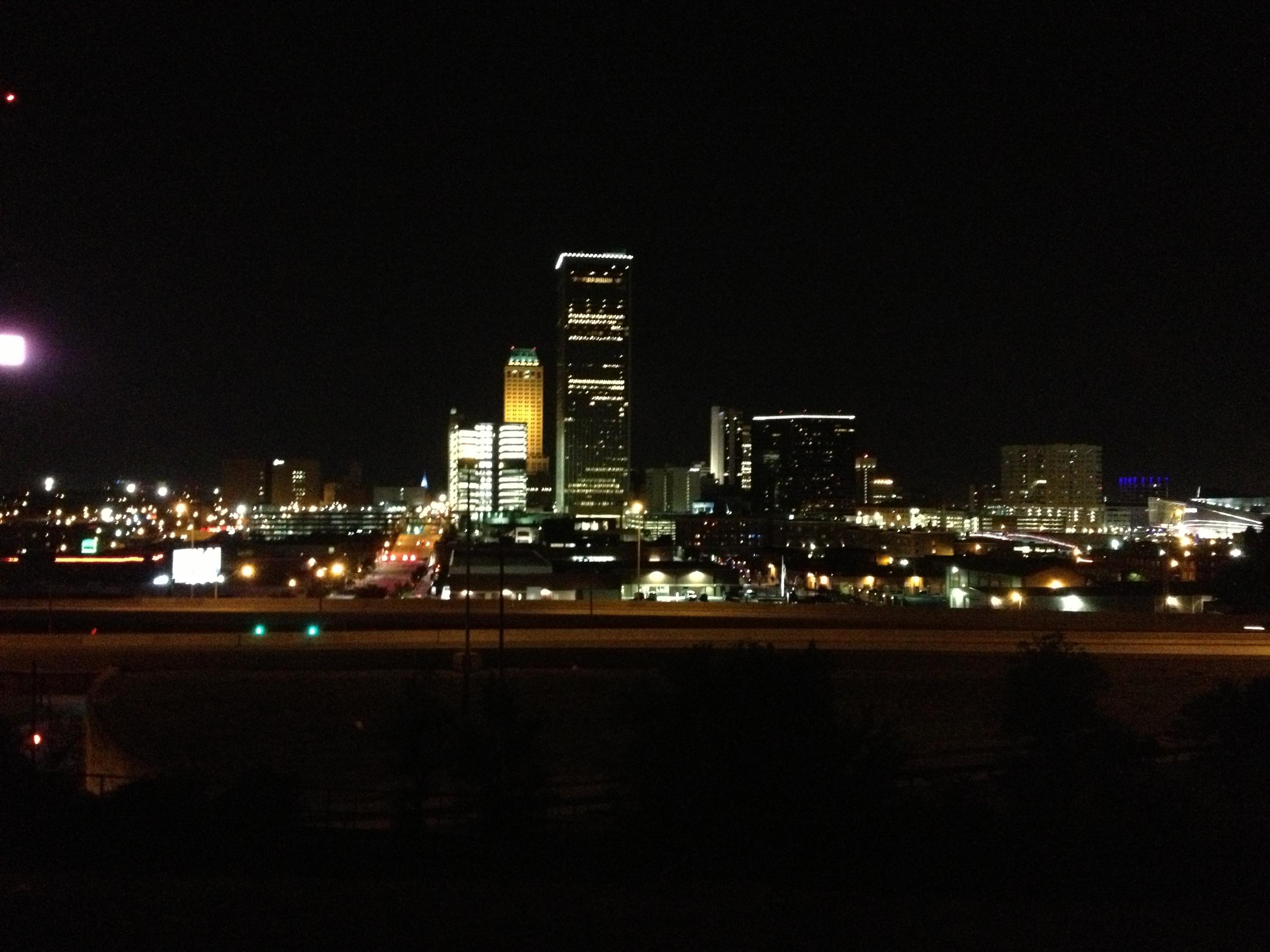 Tulsa, Oklahoma viewed at night