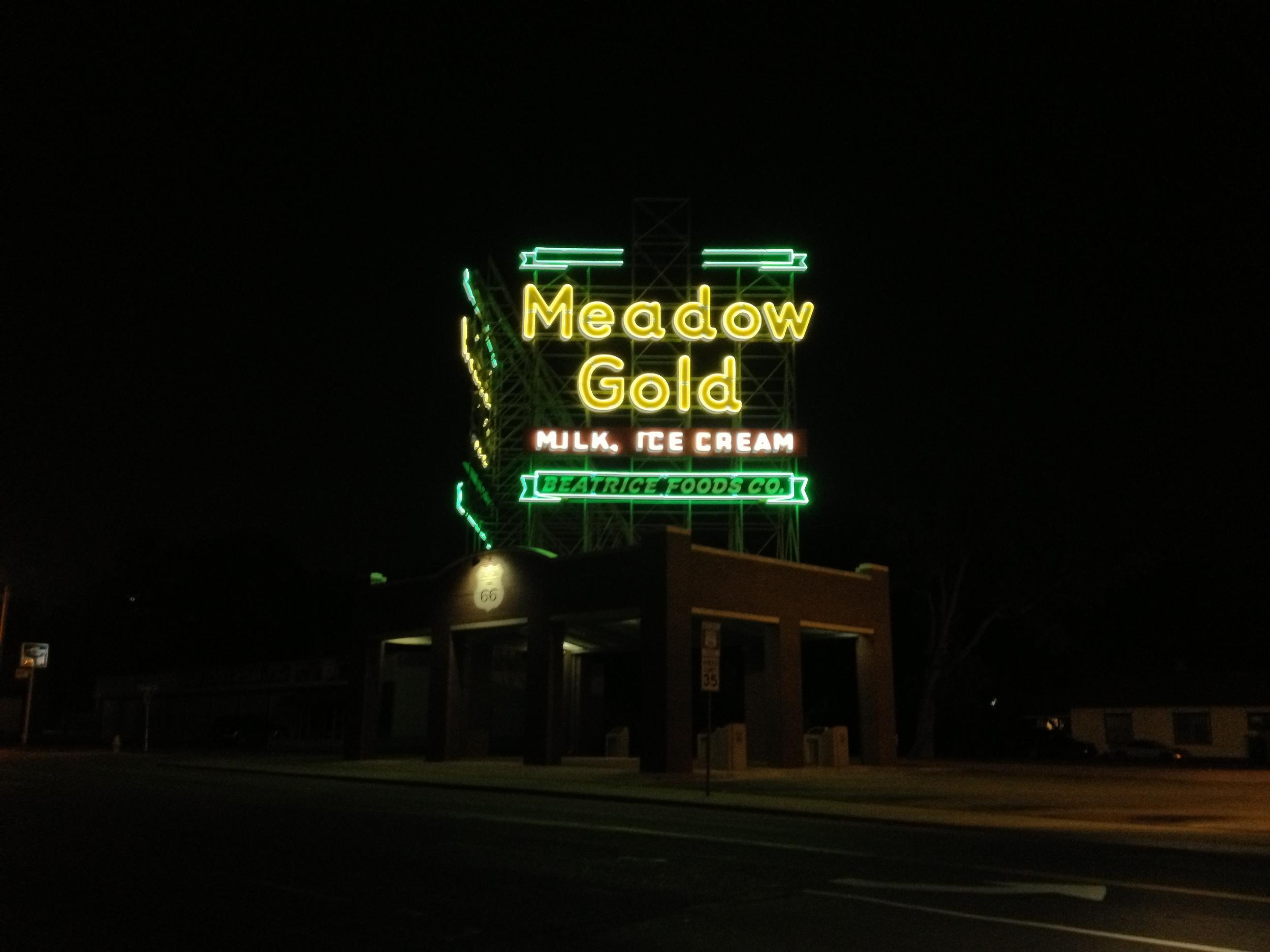 Meado Gold Sign in Tulsa