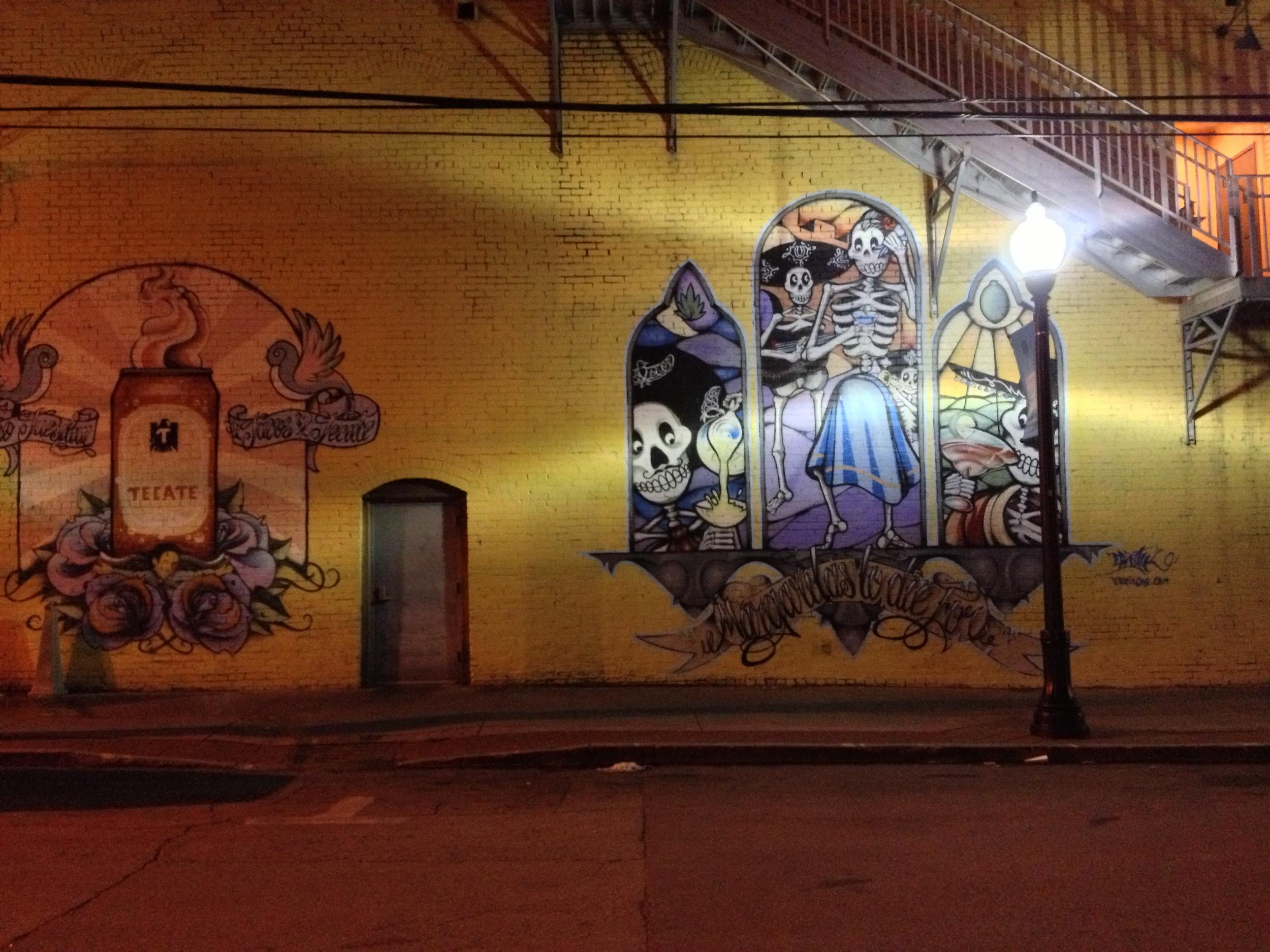 Tulsa Wall Art at El Guapo Restaurant in DOwntown