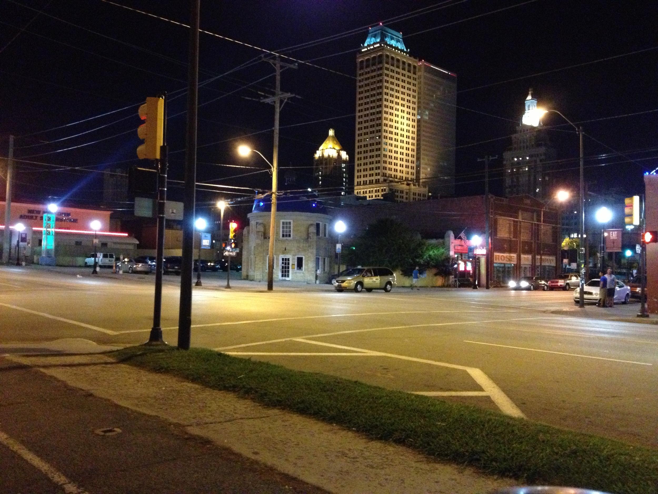 another Tulsa Street at nightt