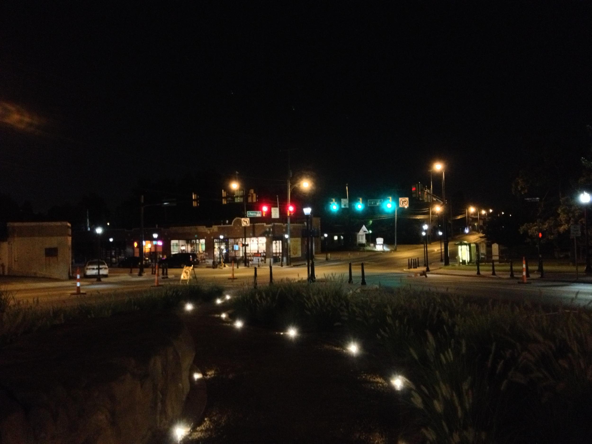 Driving in Tulsa, Oklahoma at night