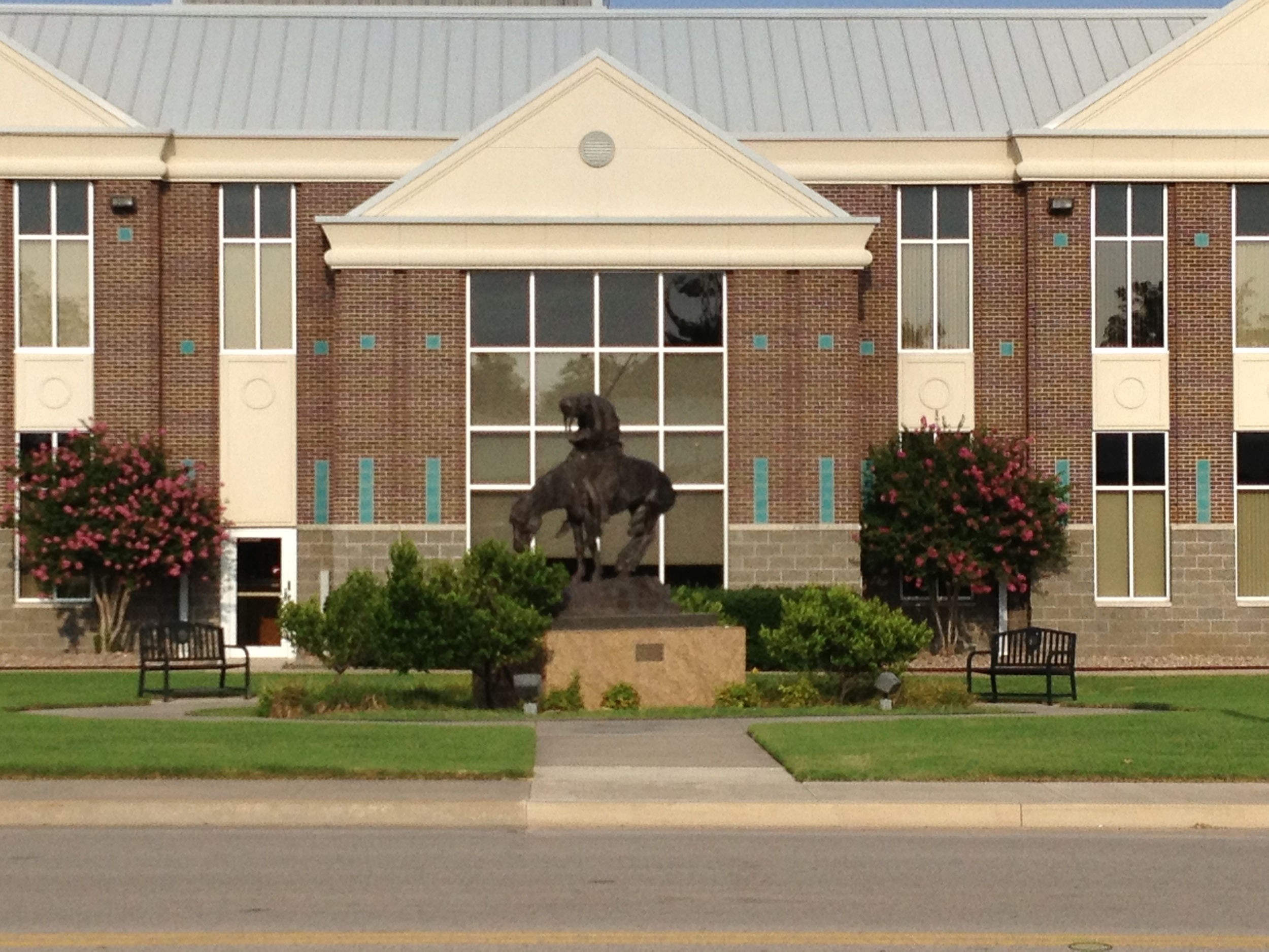 Statue in Front of Owasso municipal building