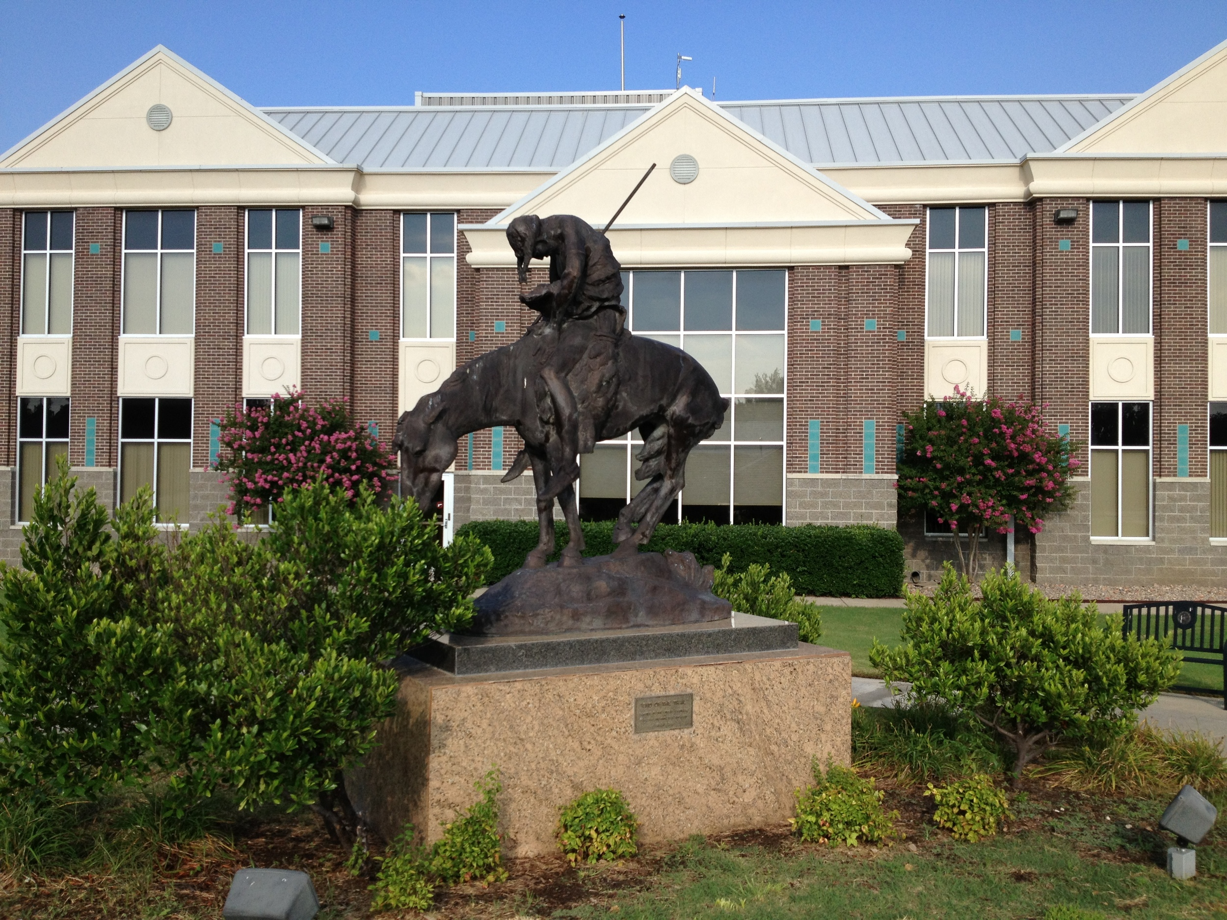 Owasso Statue in front of Jail