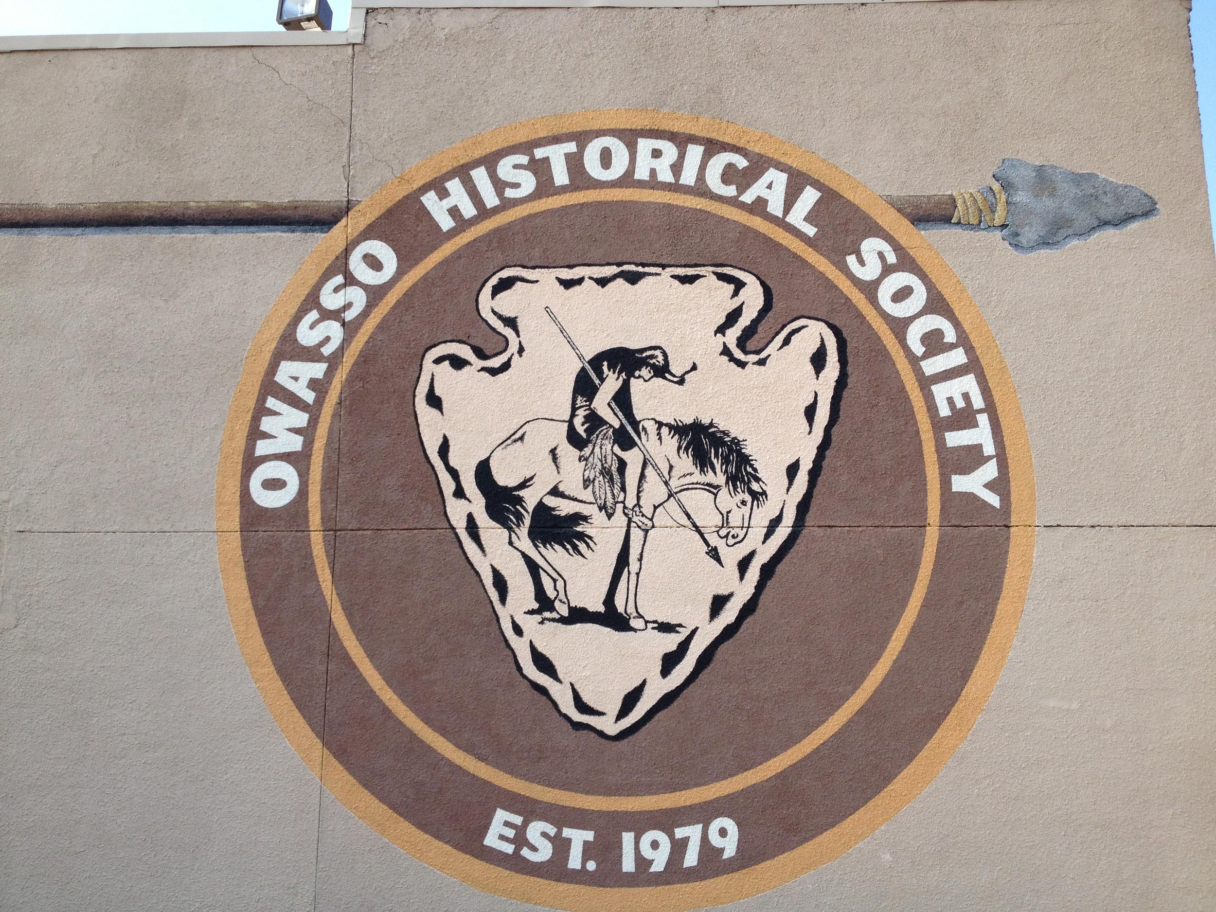 Owasso seal on wall