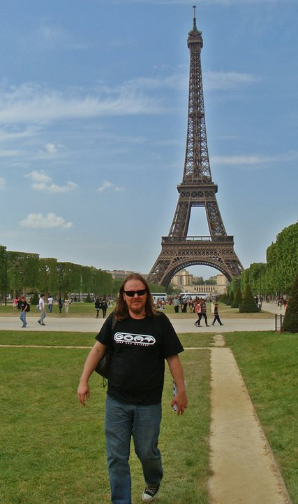 Dewey Paul Moffitt at Eiffel Tower, Paris 2011
