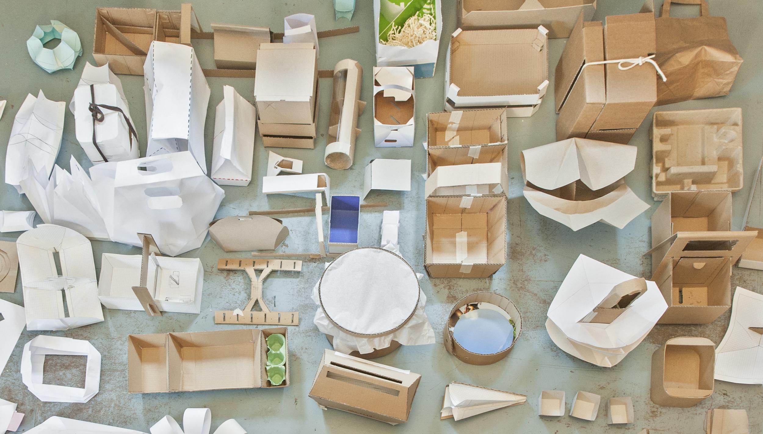 Vormodelle aus Papier und Karton