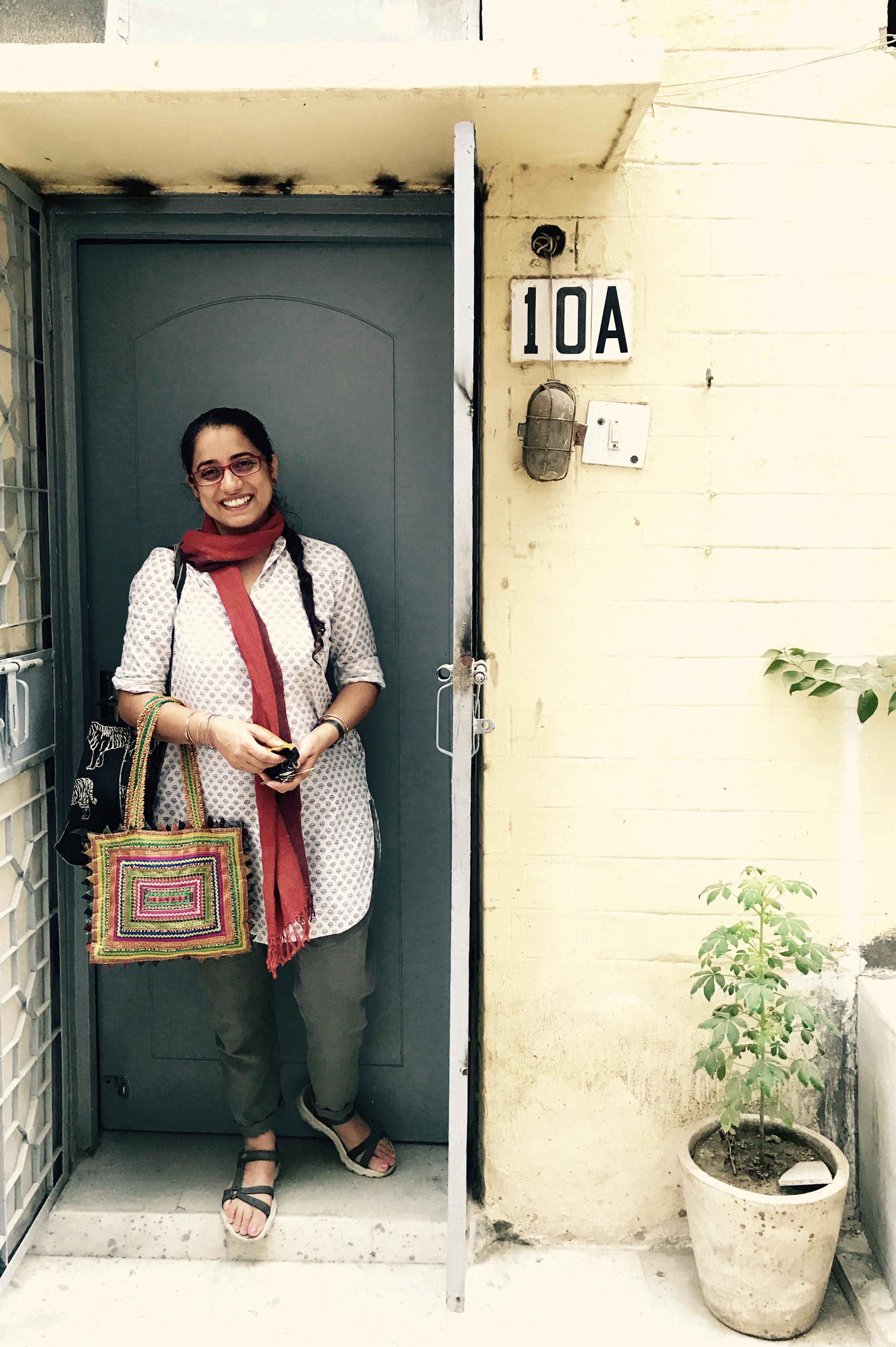 Tanveen infront of her studio