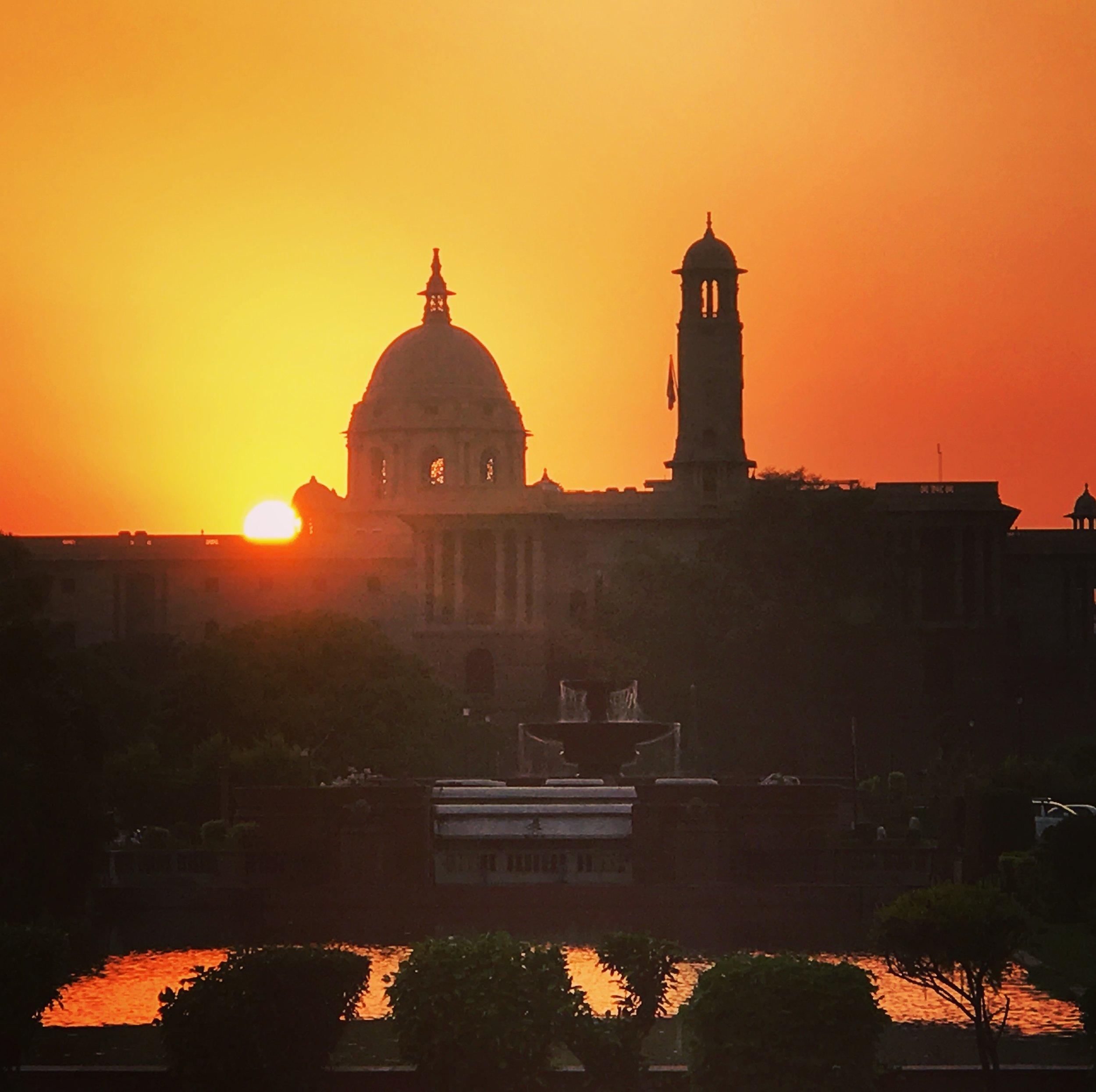 Sunset over the Presidential Residence