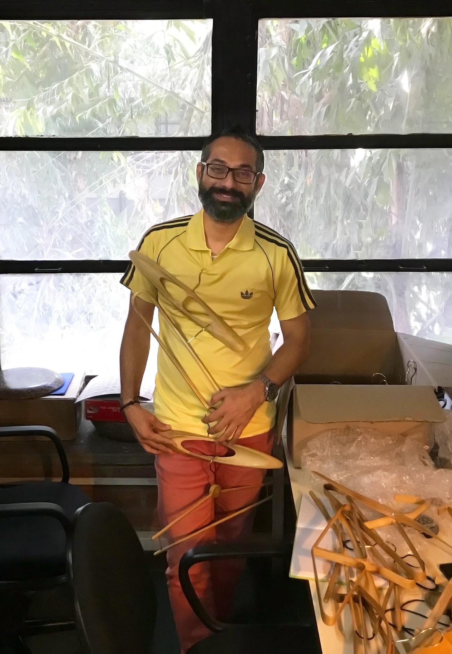 """Pravinsinh Solanki the """"hanger man"""""""